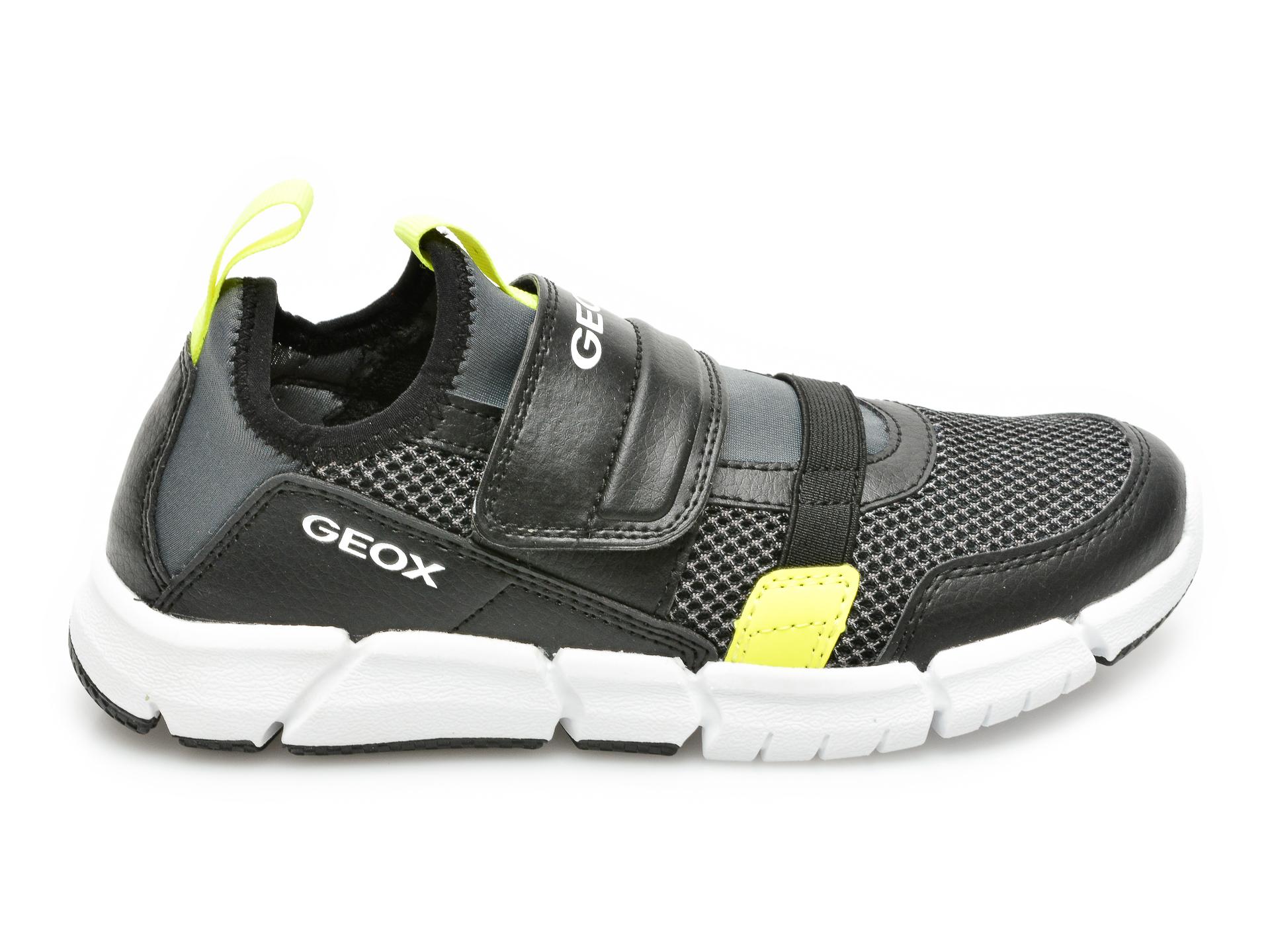 Pantofi sport GEOX negri, J159BC, din material textil si piele ecologica - 1