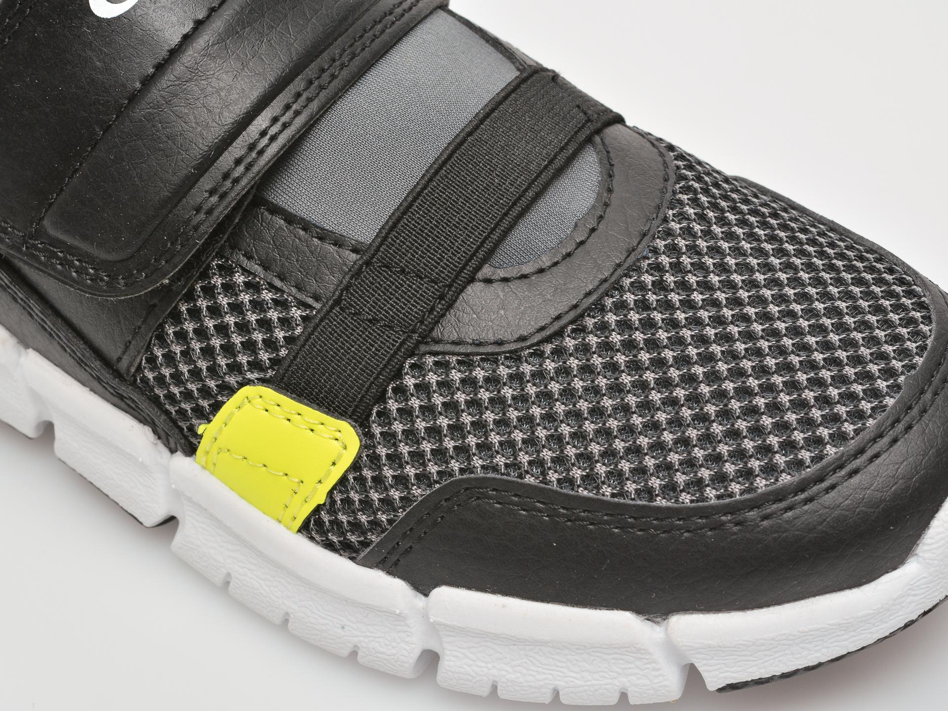 Pantofi sport GEOX negri, J159BC, din material textil si piele ecologica - 2