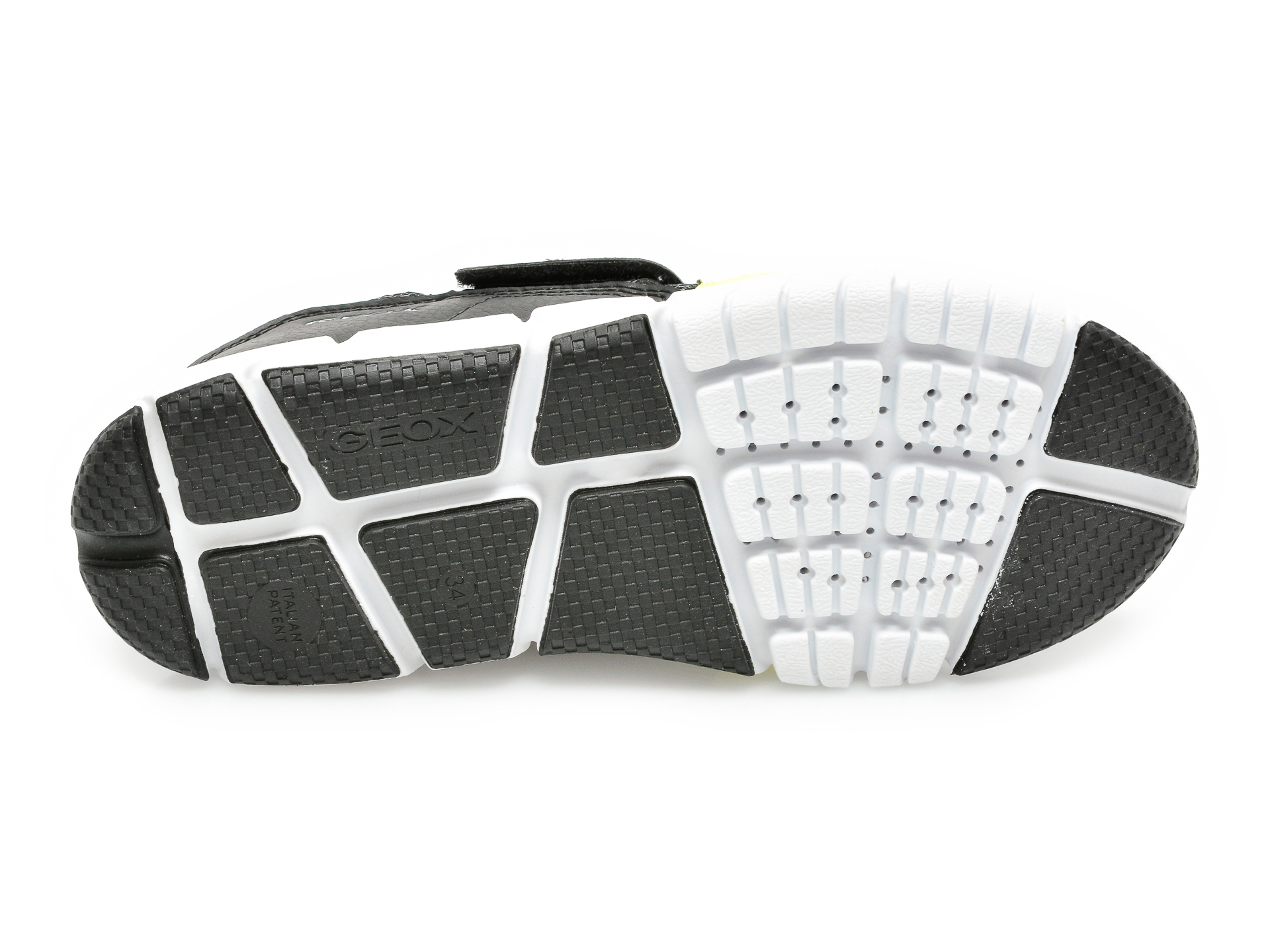 Pantofi sport GEOX negri, J159BC, din material textil si piele ecologica - 7