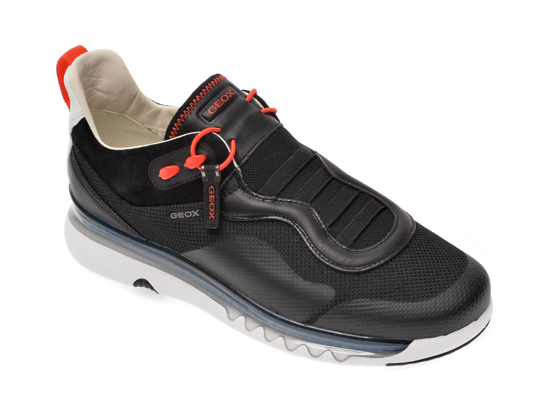 Pantofi sport GEOX gri, U029AA, din piele naturala