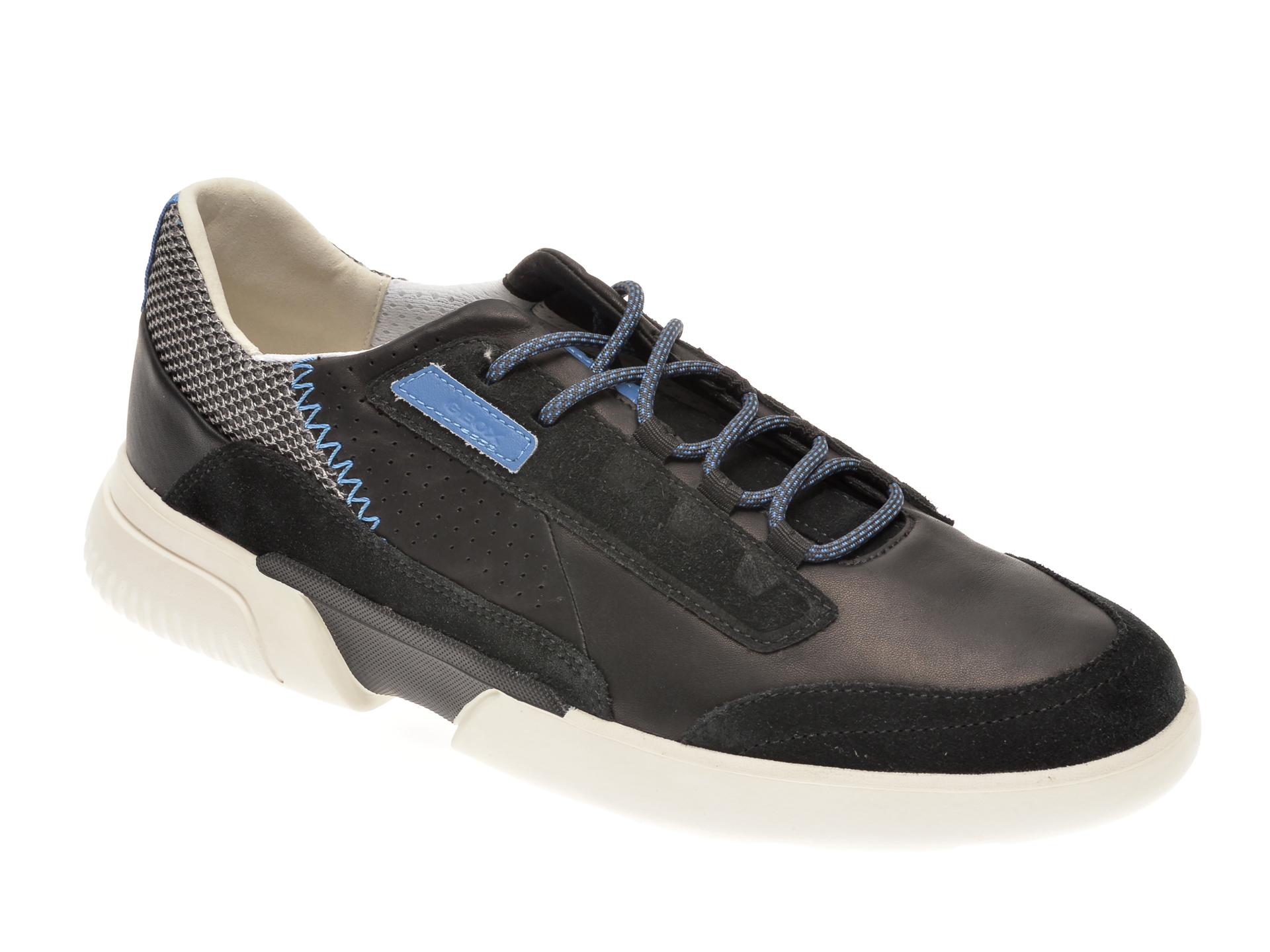 Pantofi sport GEOX negri, U04AFA, din piele naturala imagine