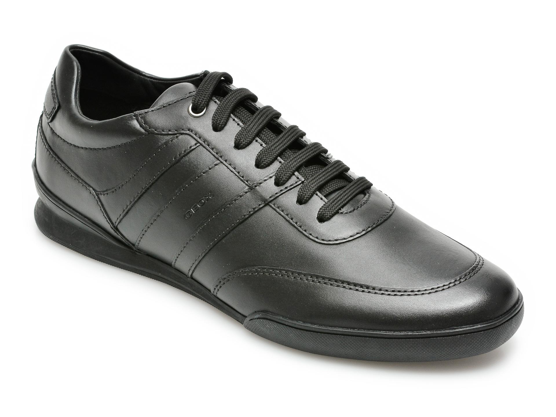 Pantofi sport GEOX negri, U150EB, din piele naturala imagine