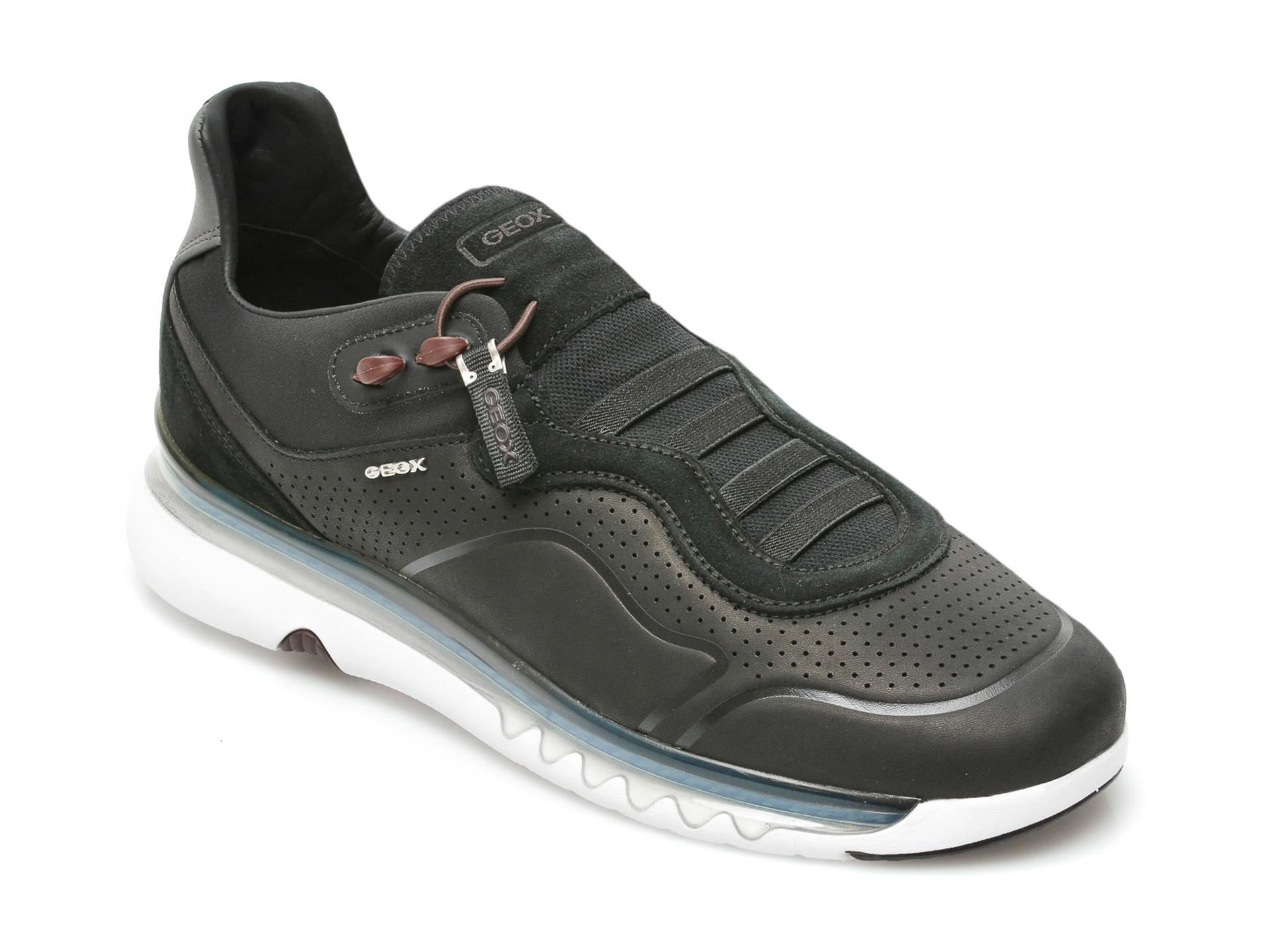 Pantofi sport GEOX negri, U159XA, din piele naturala imagine