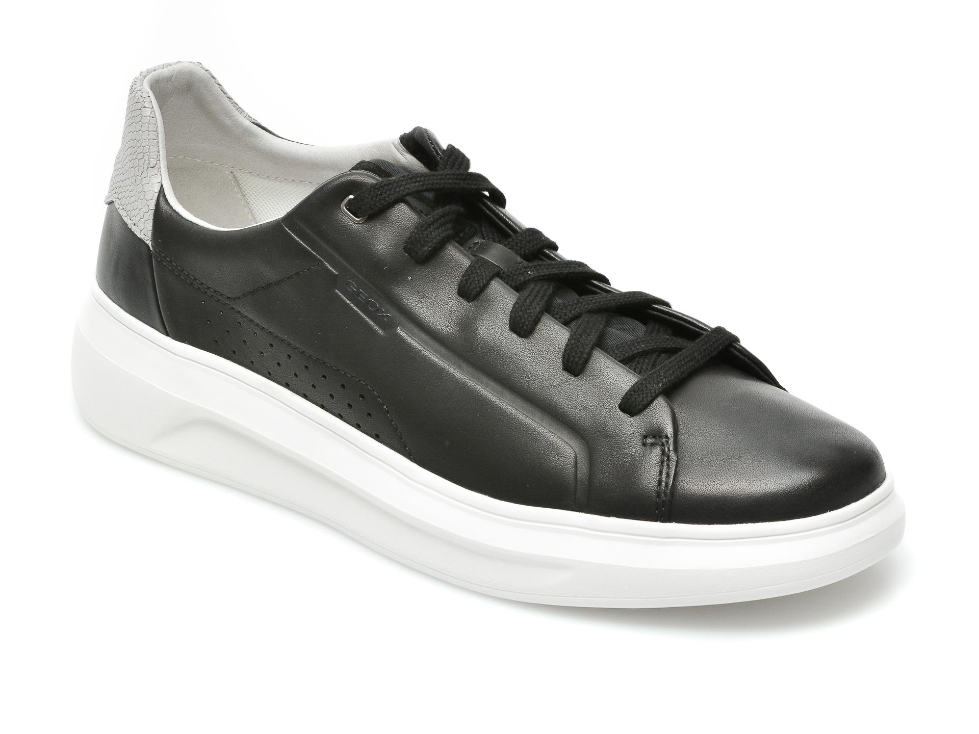Pantofi sport GEOX negri, U15ATB, din piele naturala imagine