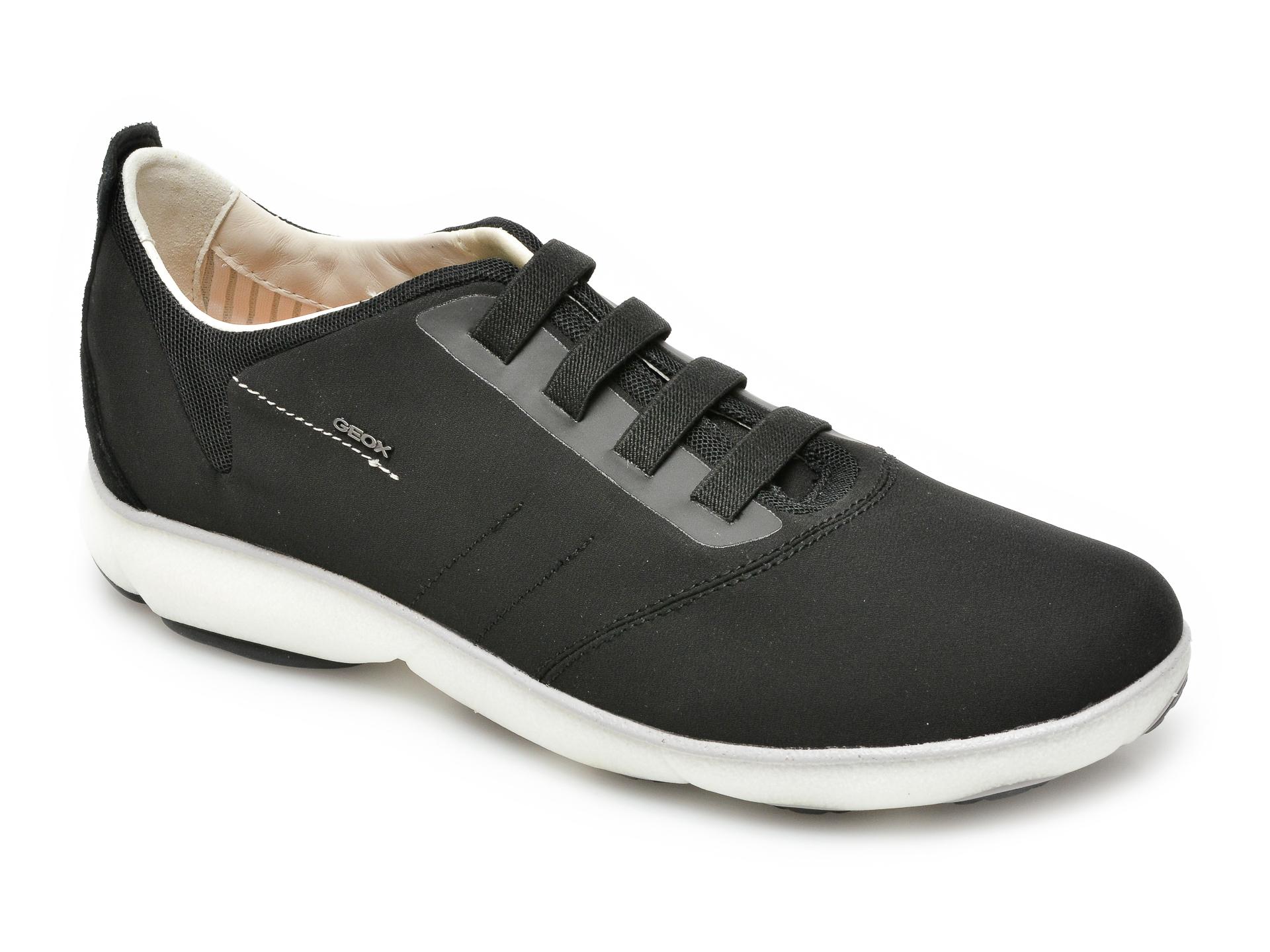 Pantofi sport GEOX negri, U15D7C, din material textil imagine