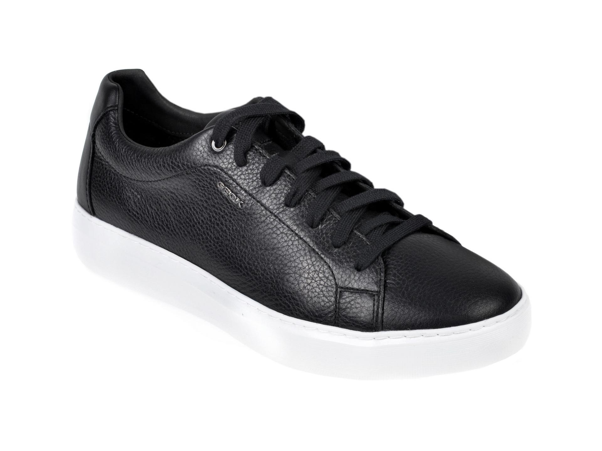 Pantofi sport GEOX negri, U845WB, din piele naturala imagine