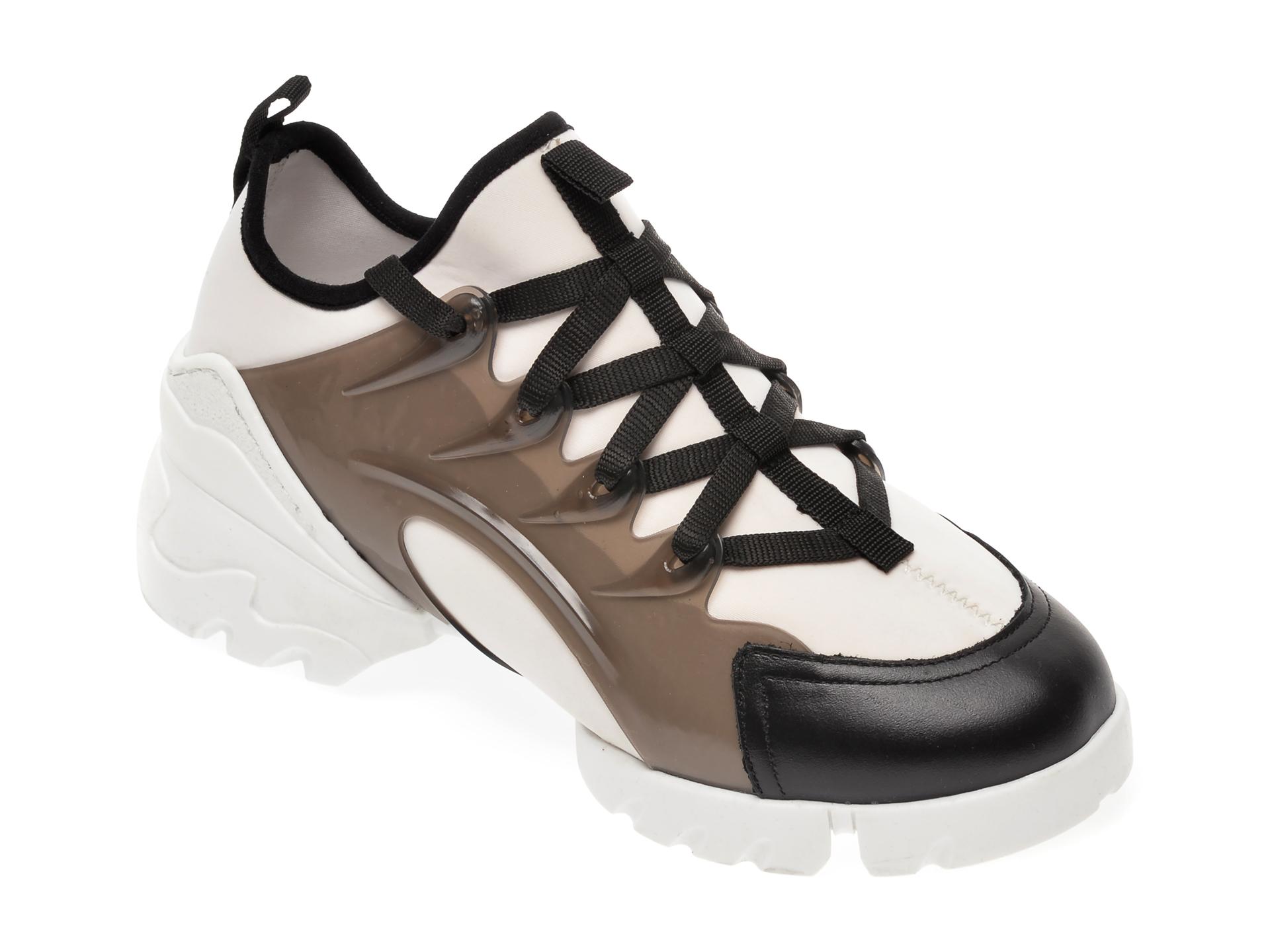 Pantofi sport GRYXX alb-negru, MO1332, din material textil