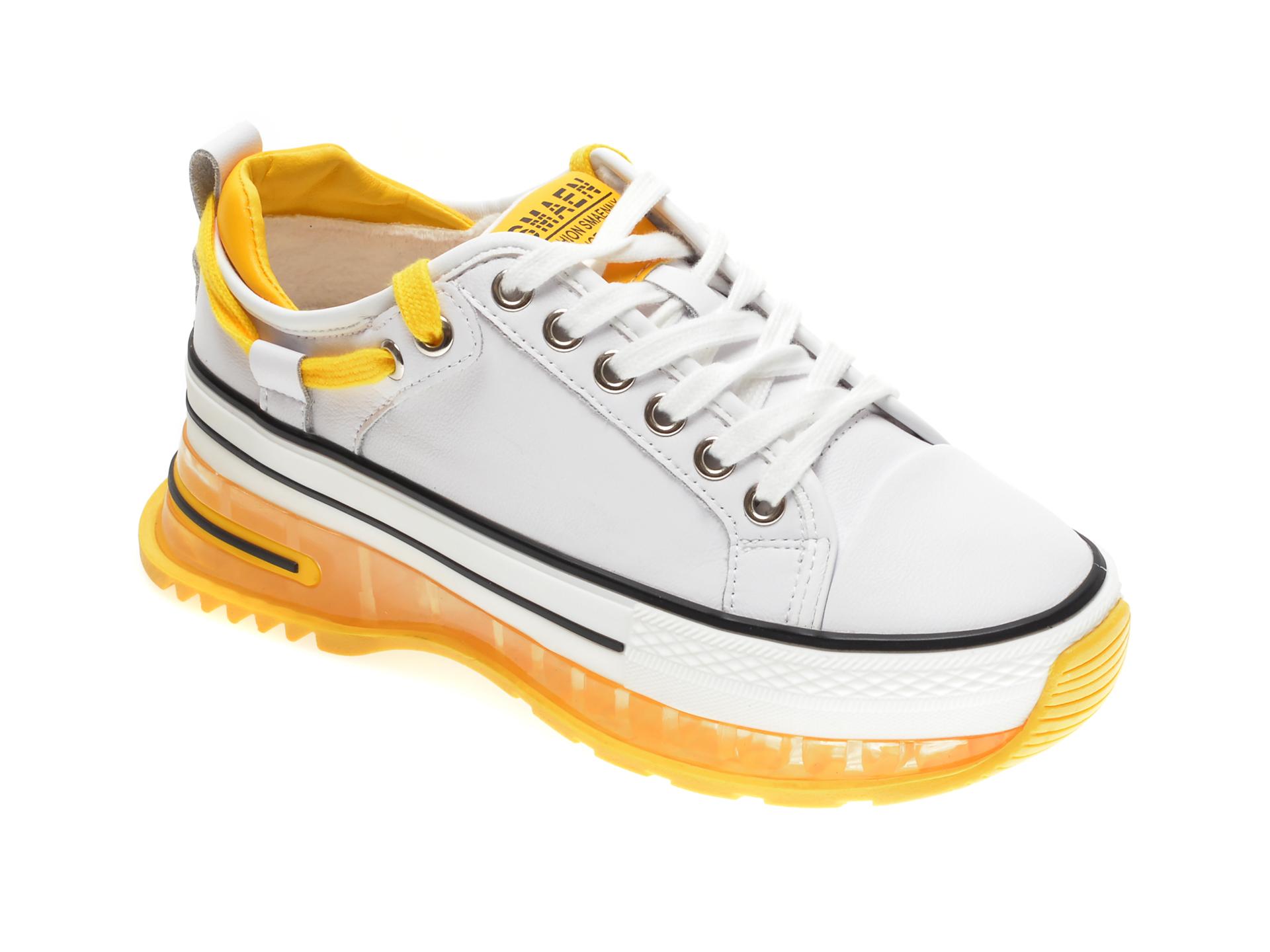 Pantofi sport GRYXX albi, 20208, din piele naturala New