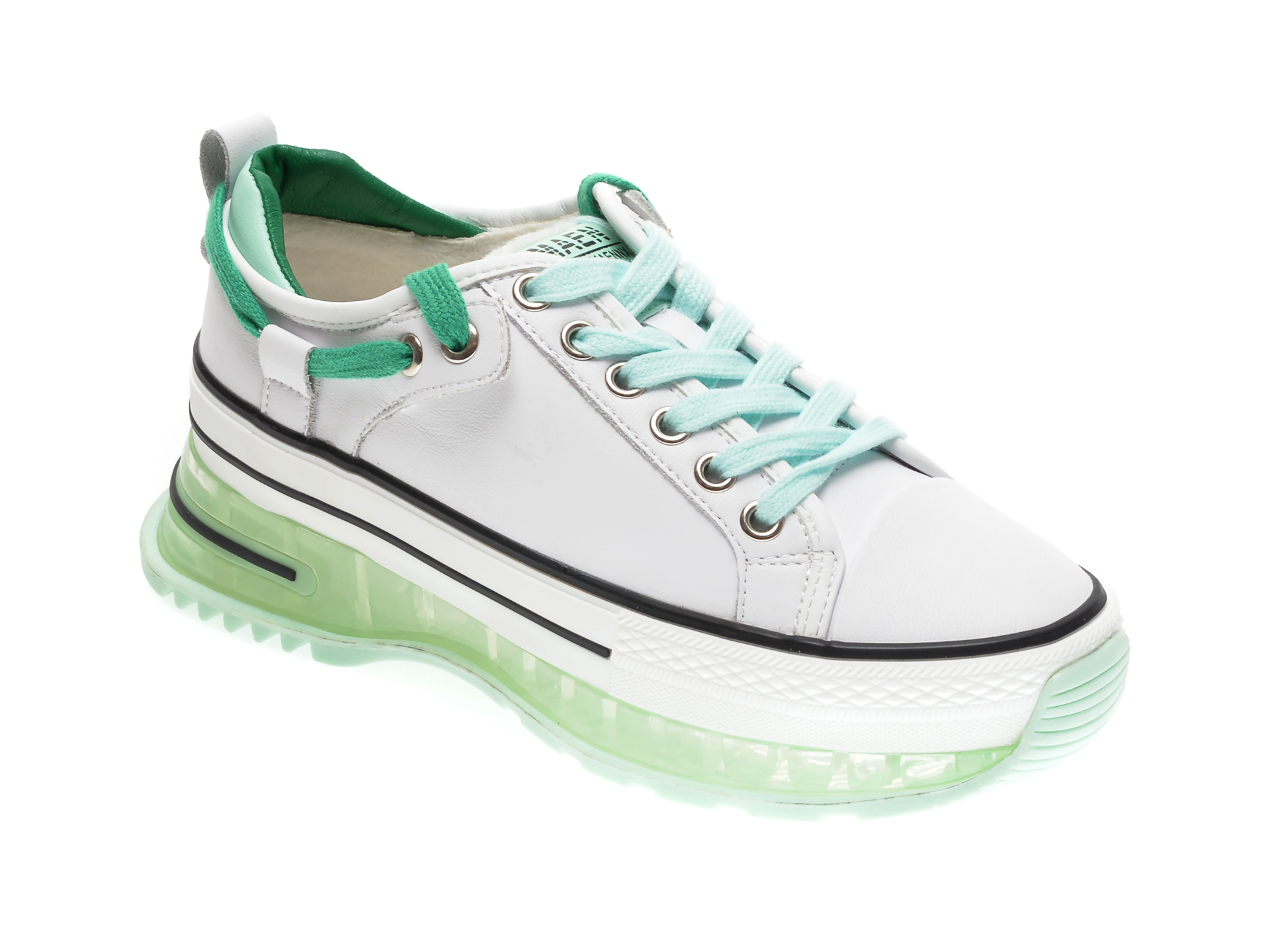Pantofi sport GRYXX albi, 20208, din piele naturala imagine