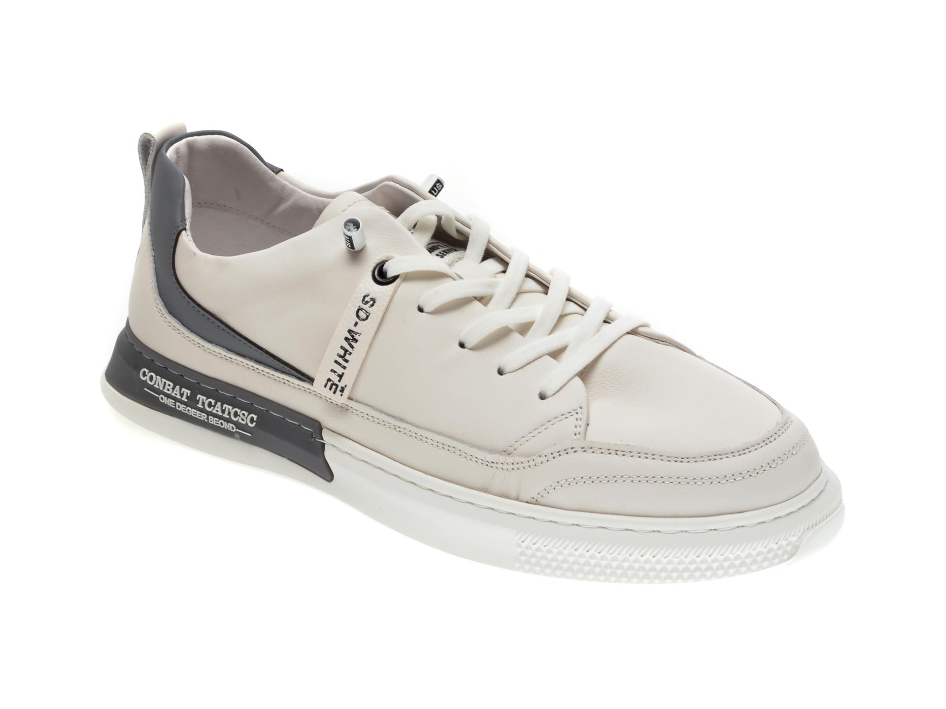 Pantofi sport GRYXX albi, 207082, din piele naturala imagine