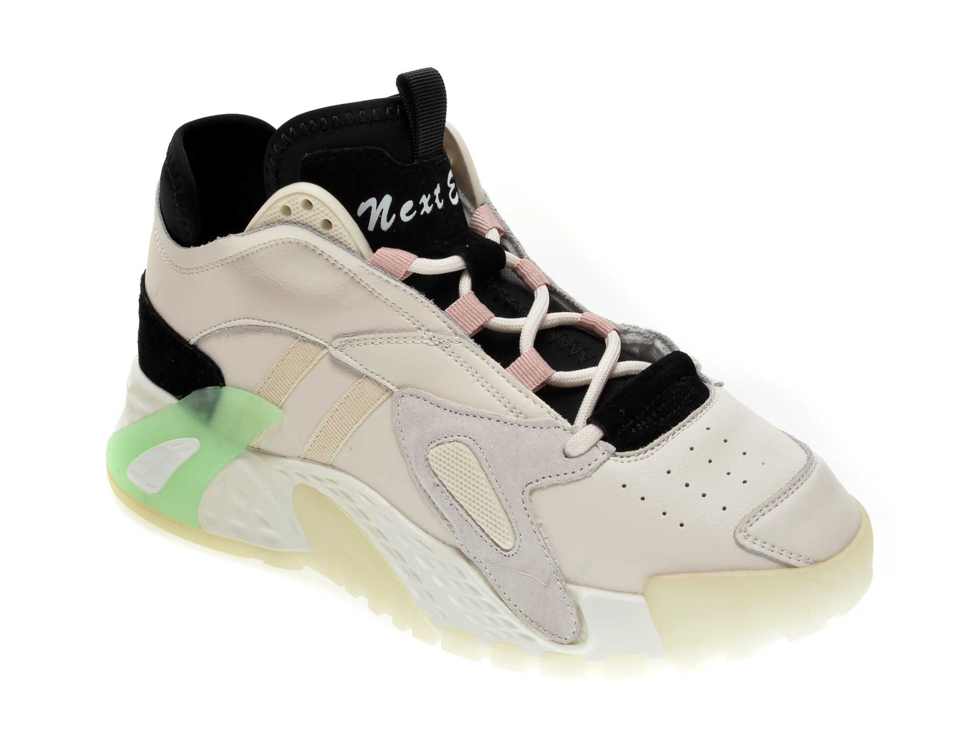 Pantofi sport GRYXX albi, 2071, din piele naturala