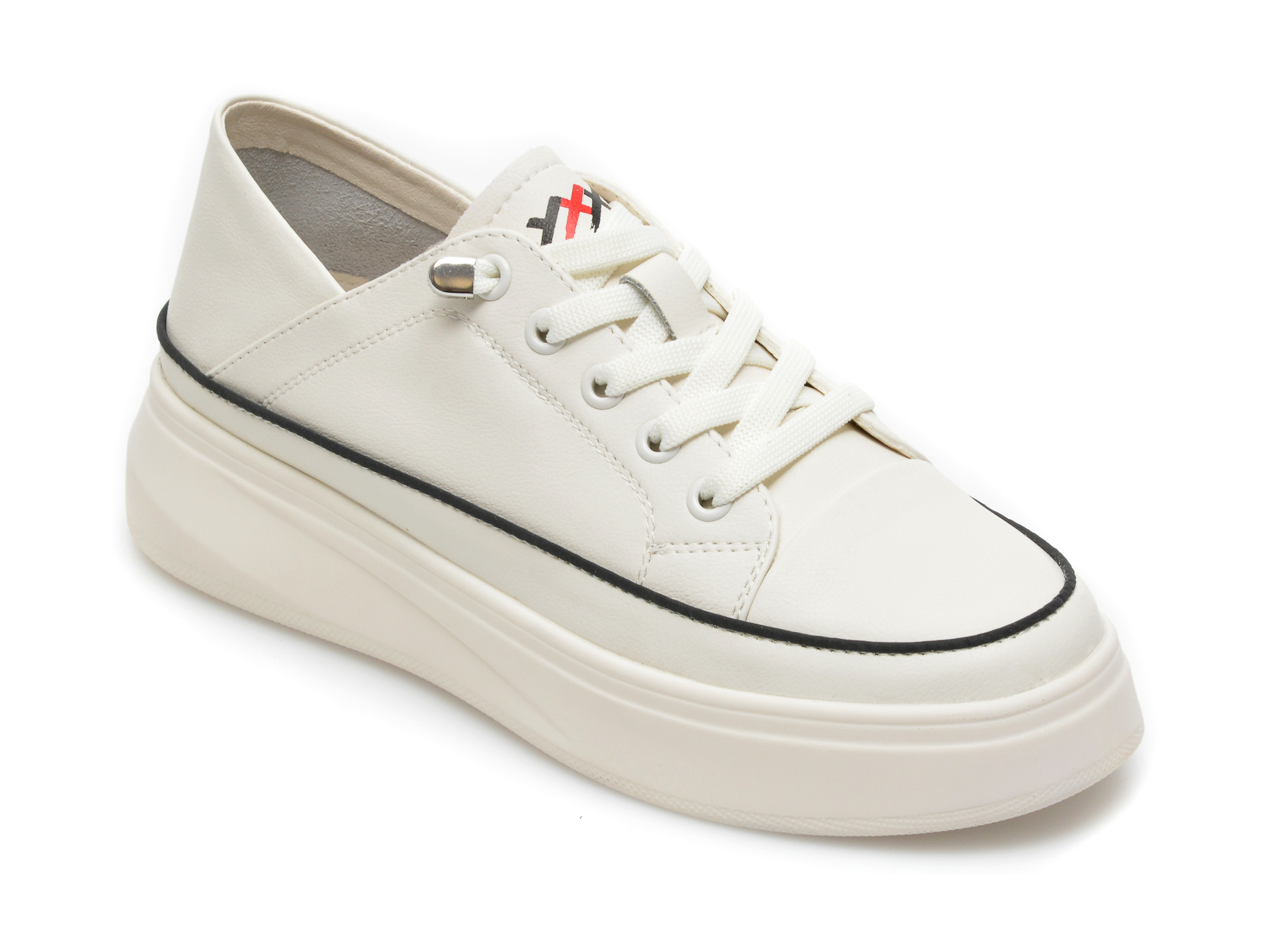 Pantofi sport GRYXX albi, 2071, din piele naturala imagine otter.ro
