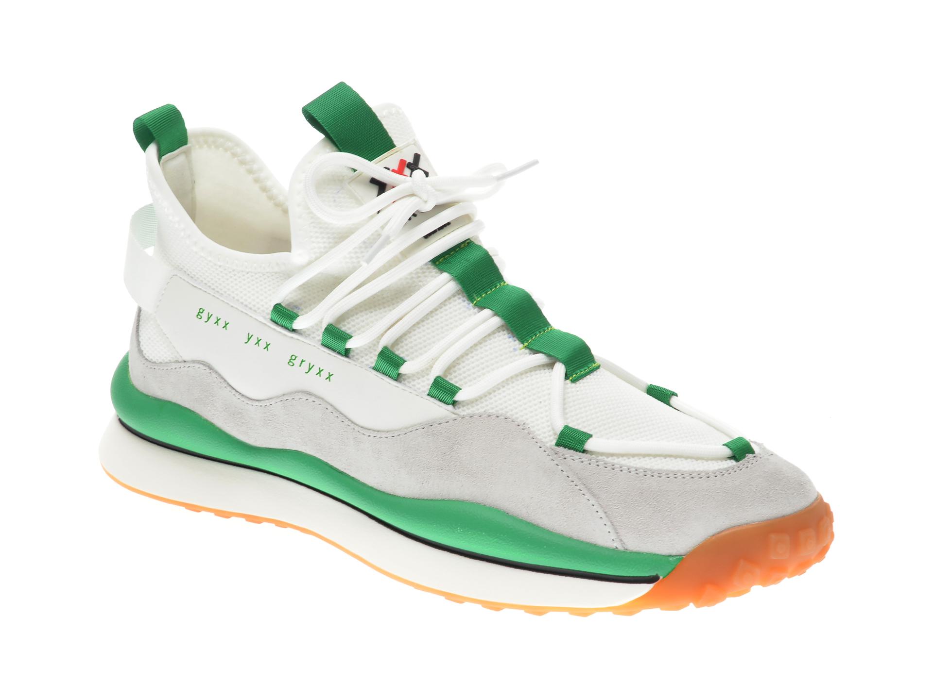Pantofi sport GRYXX albi, 207232, din material textil si piele naturala imagine