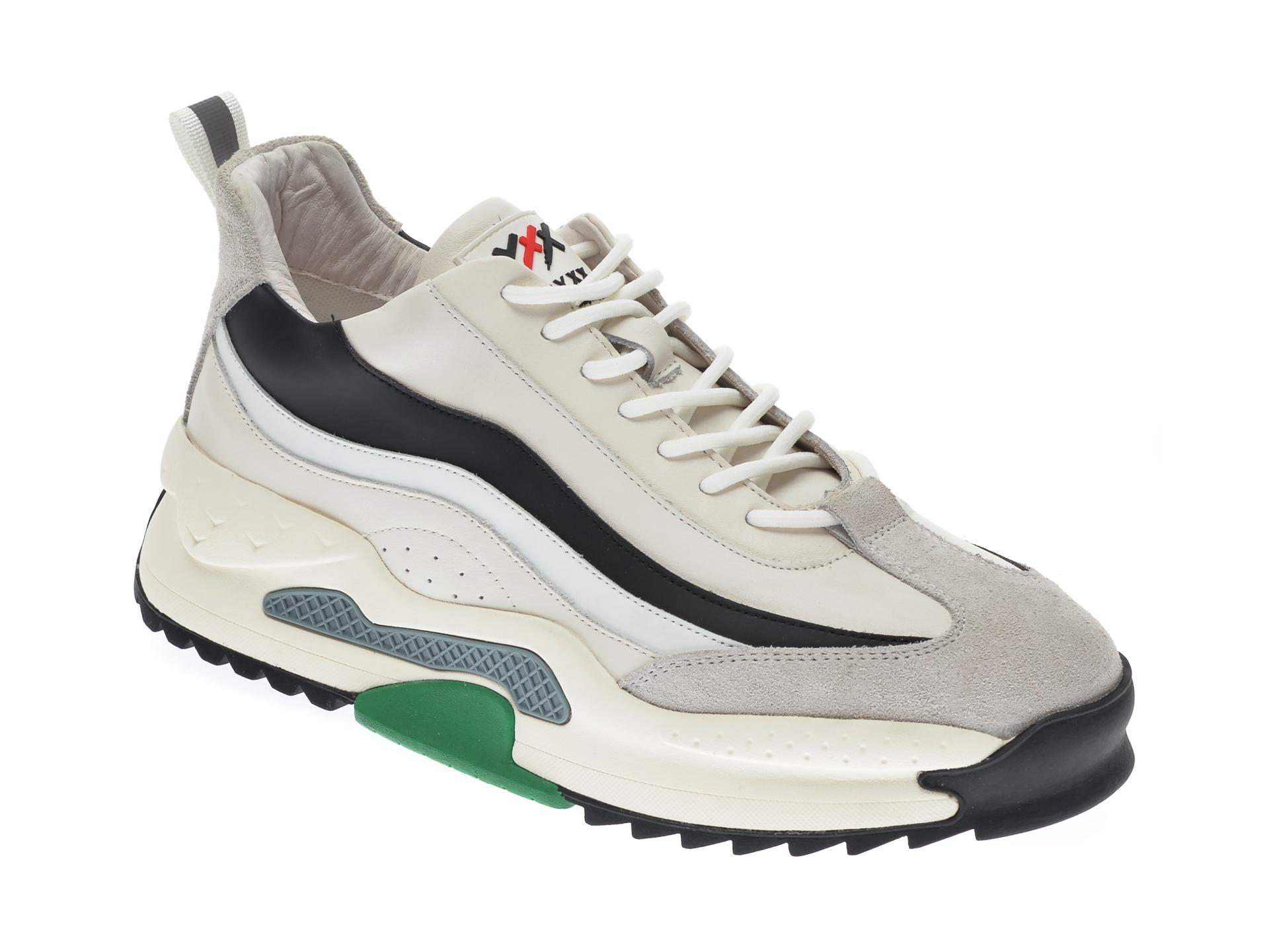 Pantofi sport GRYXX albi, 207292, din piele naturala imagine
