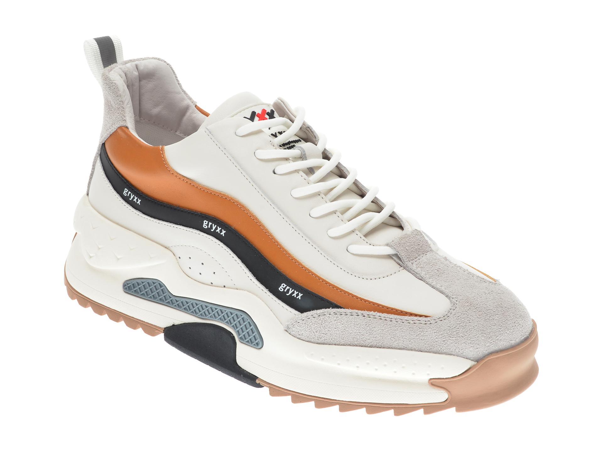 Pantofi sport GRYXX albi, 207293, din piele naturala imagine