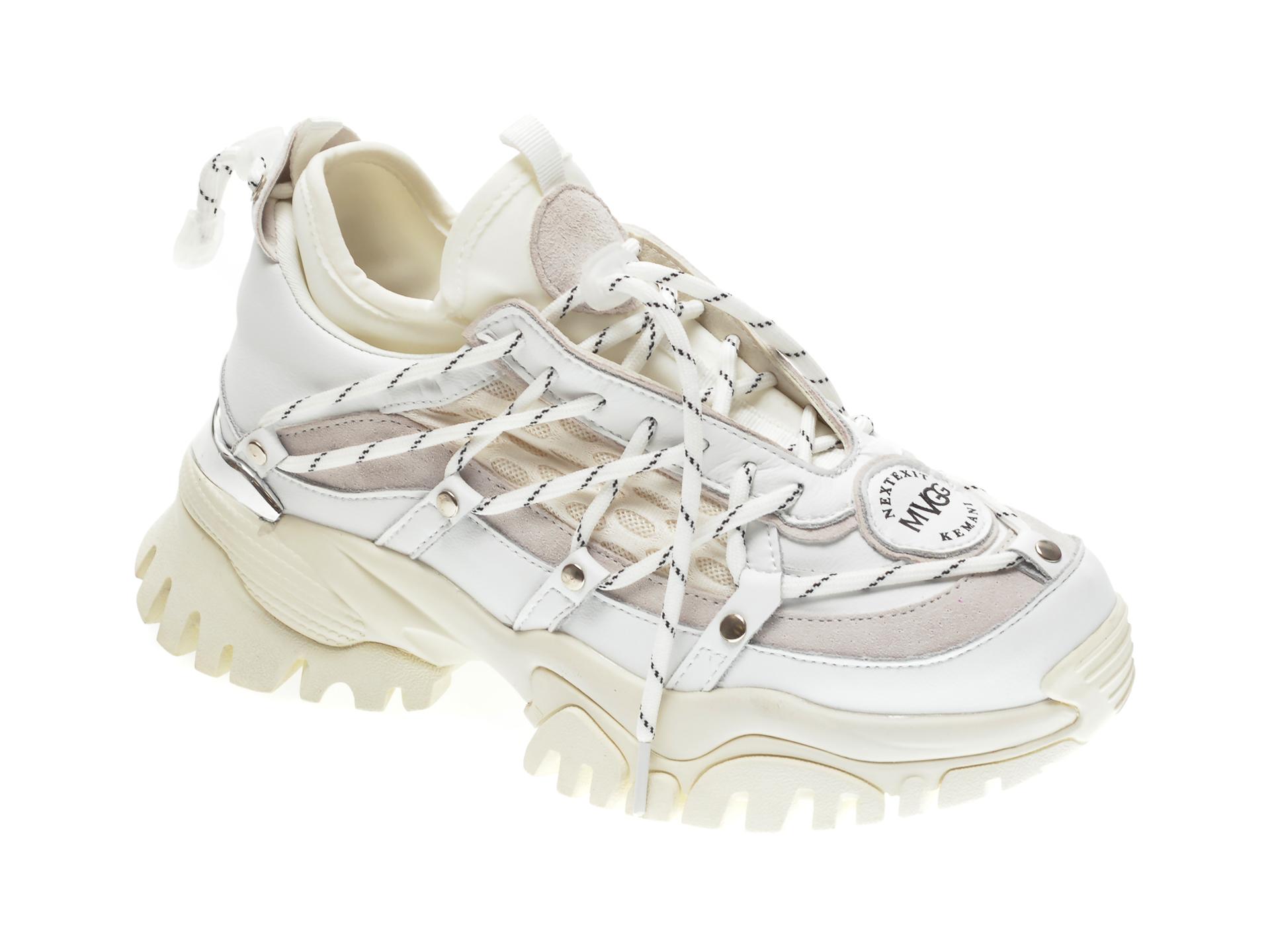 Pantofi sport GRYXX albi, 3511, din material textil si piele naturala