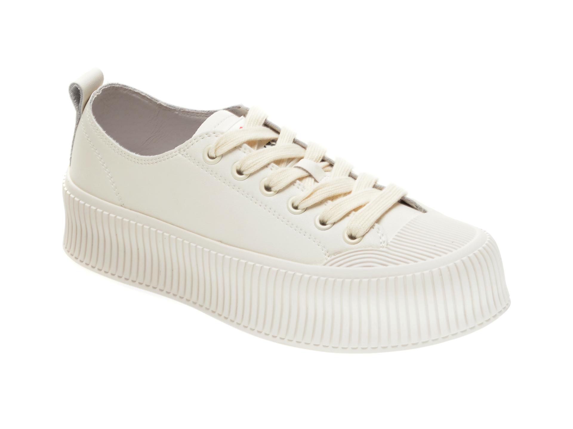 Pantofi sport GRYXX albi, 75501, din piele naturala New