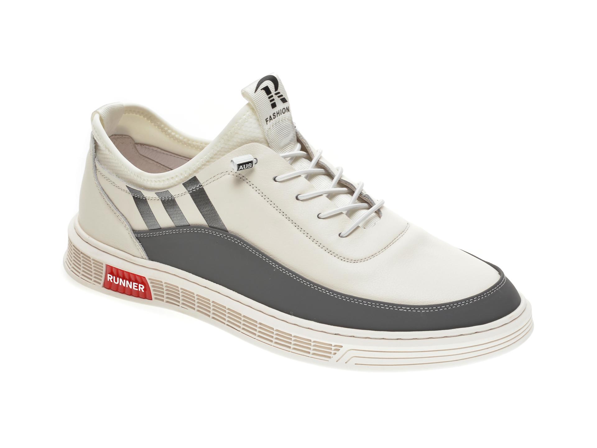 Pantofi sport GRYXX albi, 880126, din piele naturala imagine