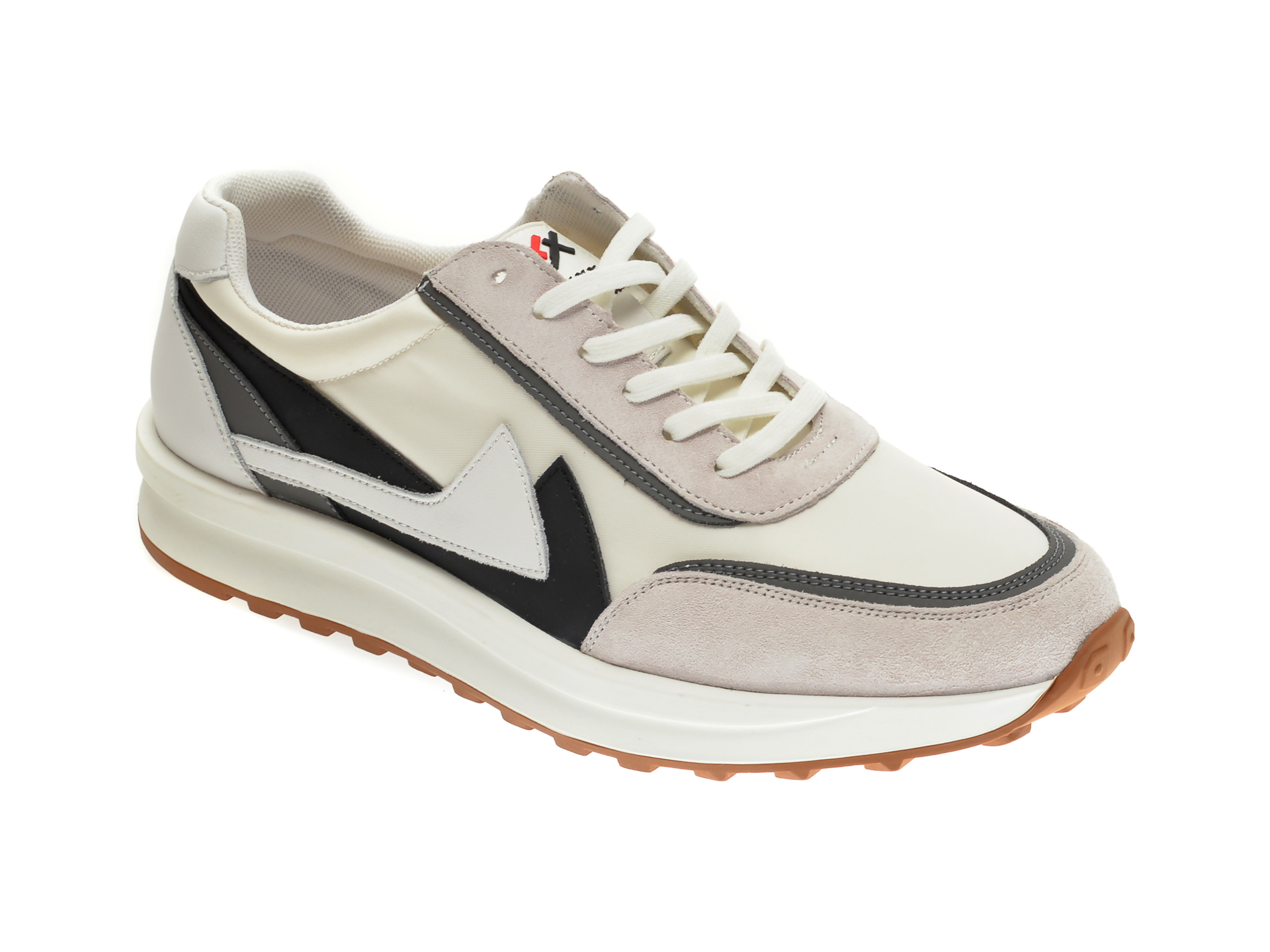 Pantofi sport GRYXX albi, 99863, din material textil si piele intoarsa imagine