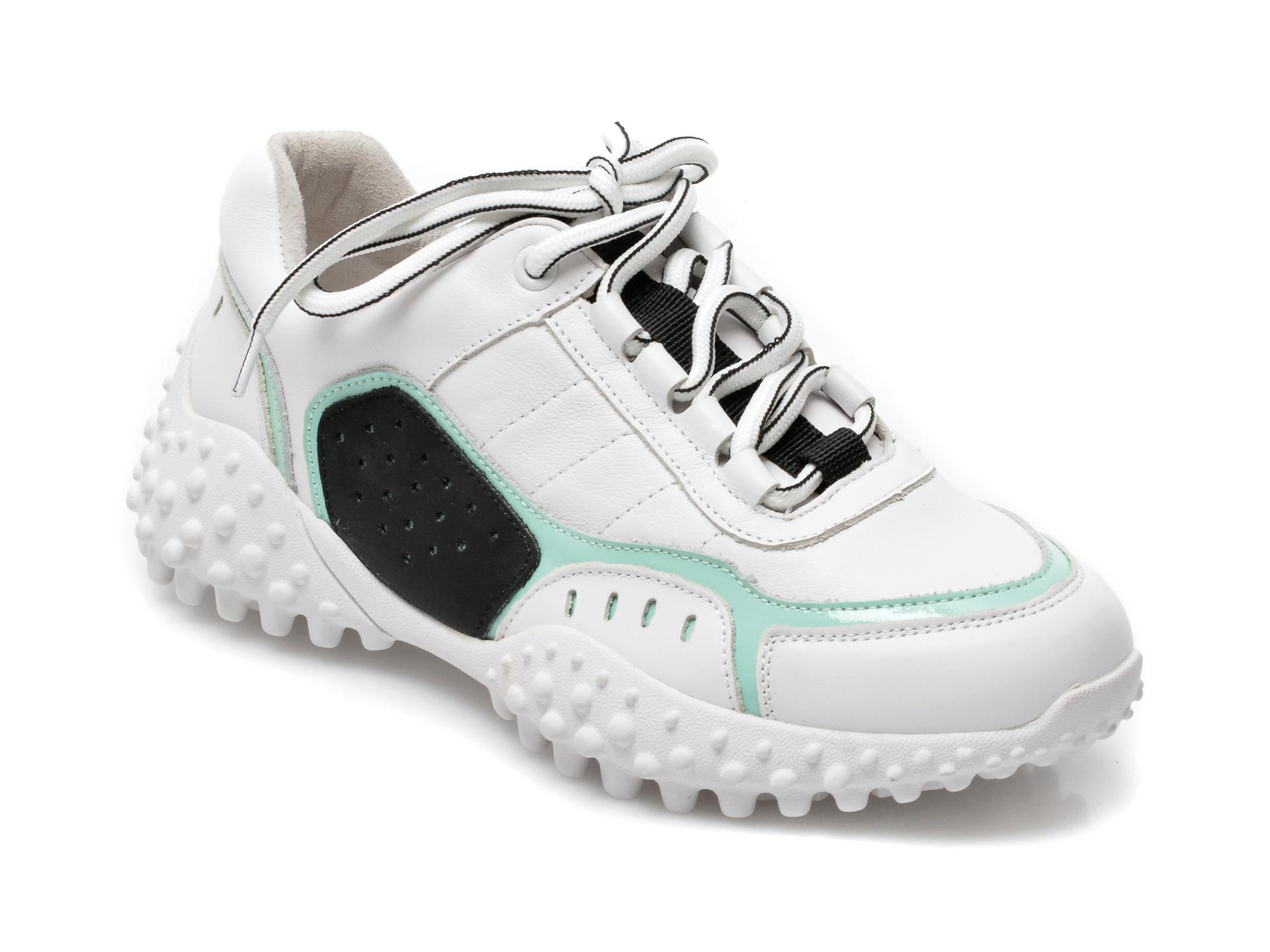Pantofi sport GRYXX albi, A2109, din piele naturala imagine otter.ro 2021