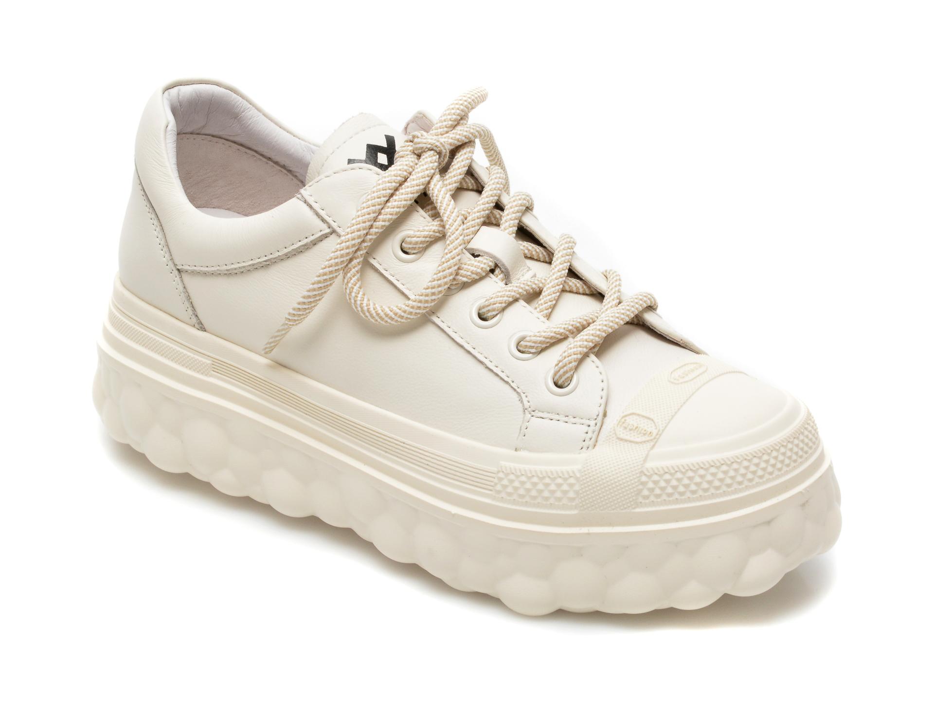 Pantofi sport GRYXX albi, A2152, din piele naturala imagine otter.ro 2021