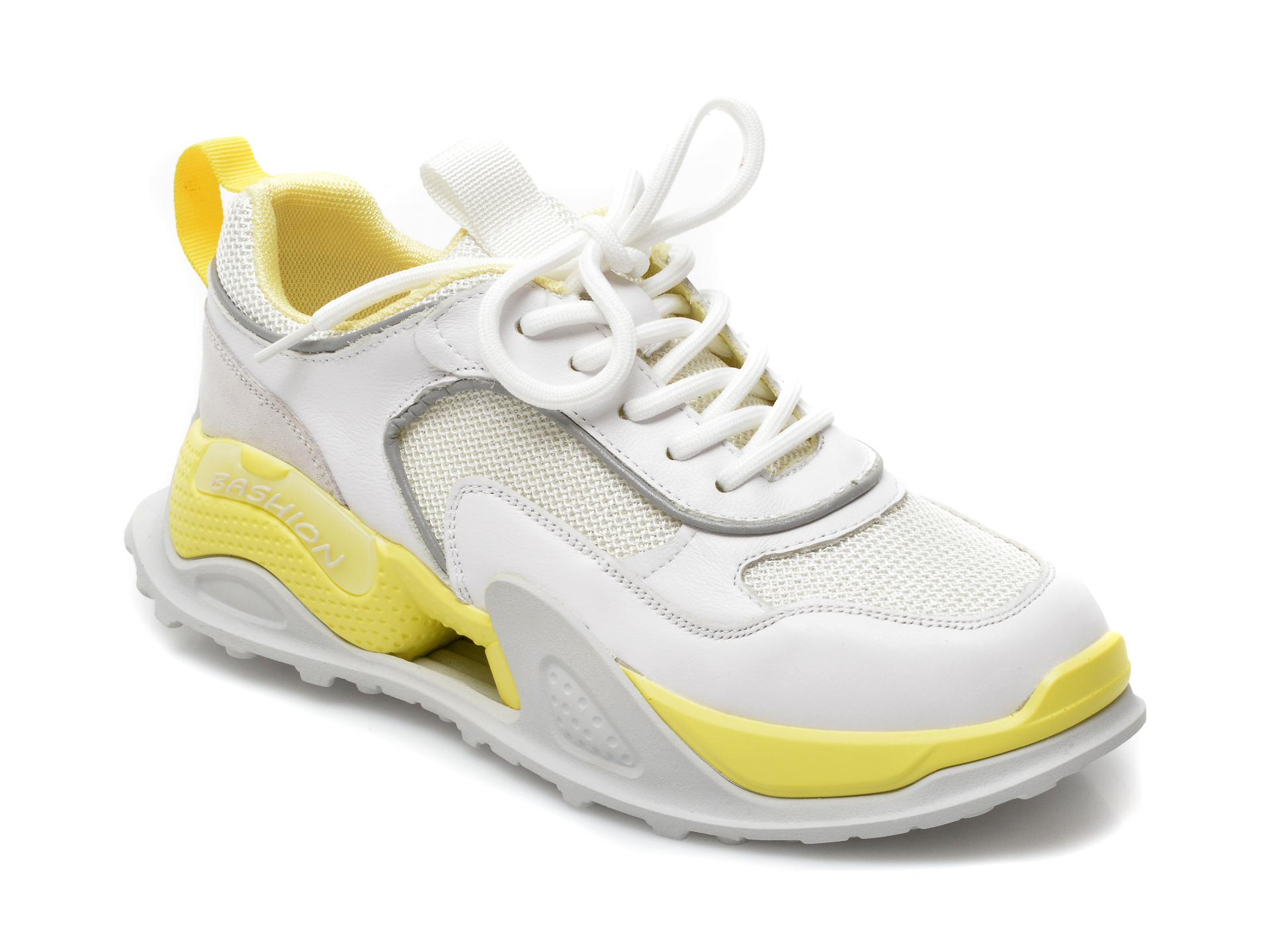 Pantofi sport GRYXX albi, A2169, din material textil si piele naturala imagine otter.ro 2021