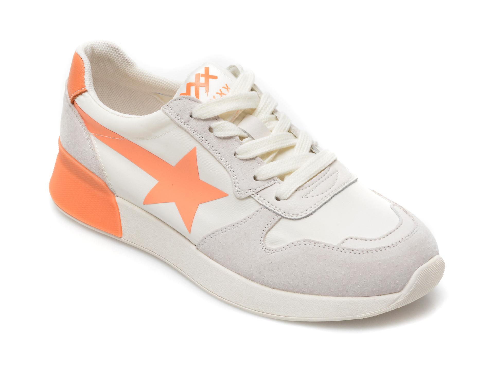 Pantofi sport GRYXX albi, B96, din material textil si piele naturala imagine otter.ro