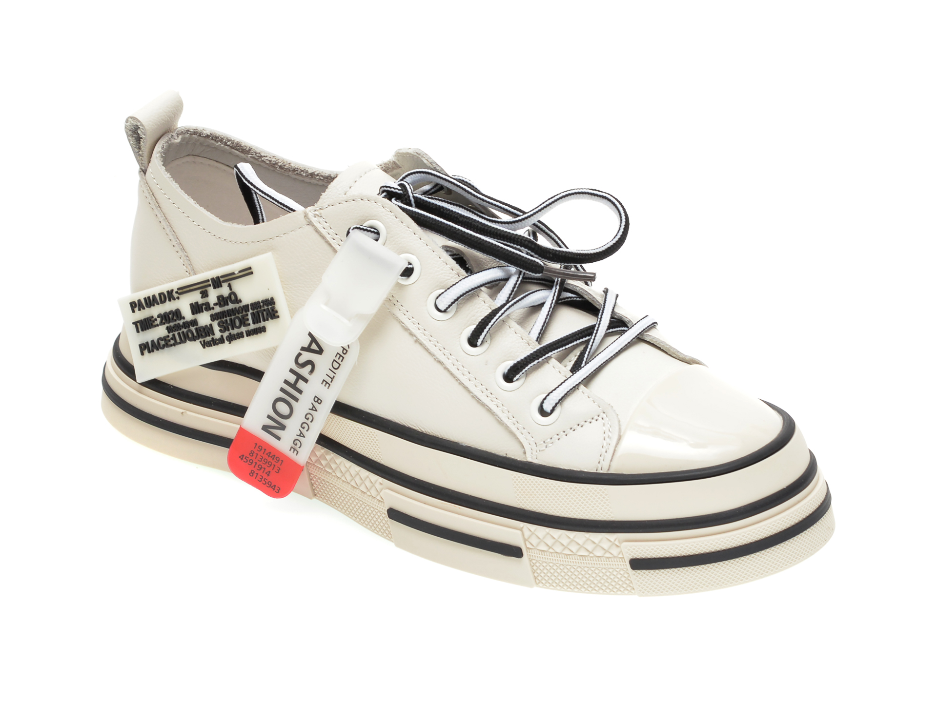 Pantofi sport GRYXX albi, C2021, din piele naturala New