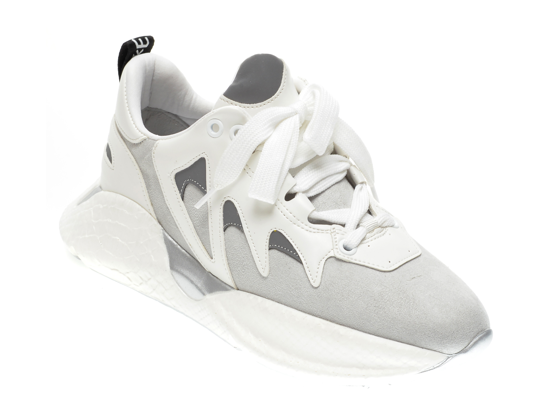 Pantofi sport GRYXX albi, COBRA1, din piele ecologica