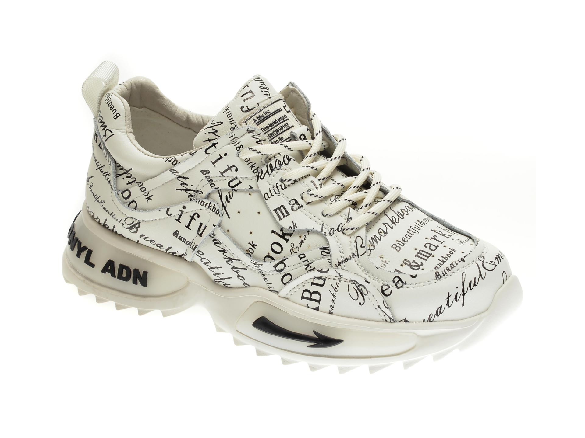 Pantofi sport GRYXX albi, H1151, din piele naturala