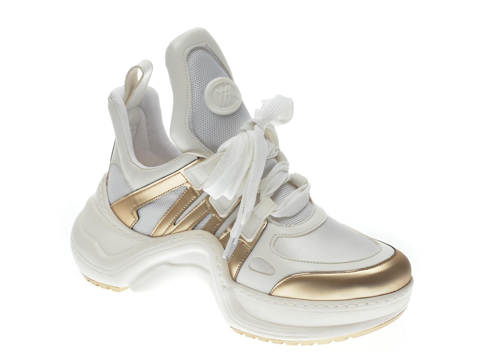 Pantofi sport GRYXX albi, MK1043, din piele ecologica