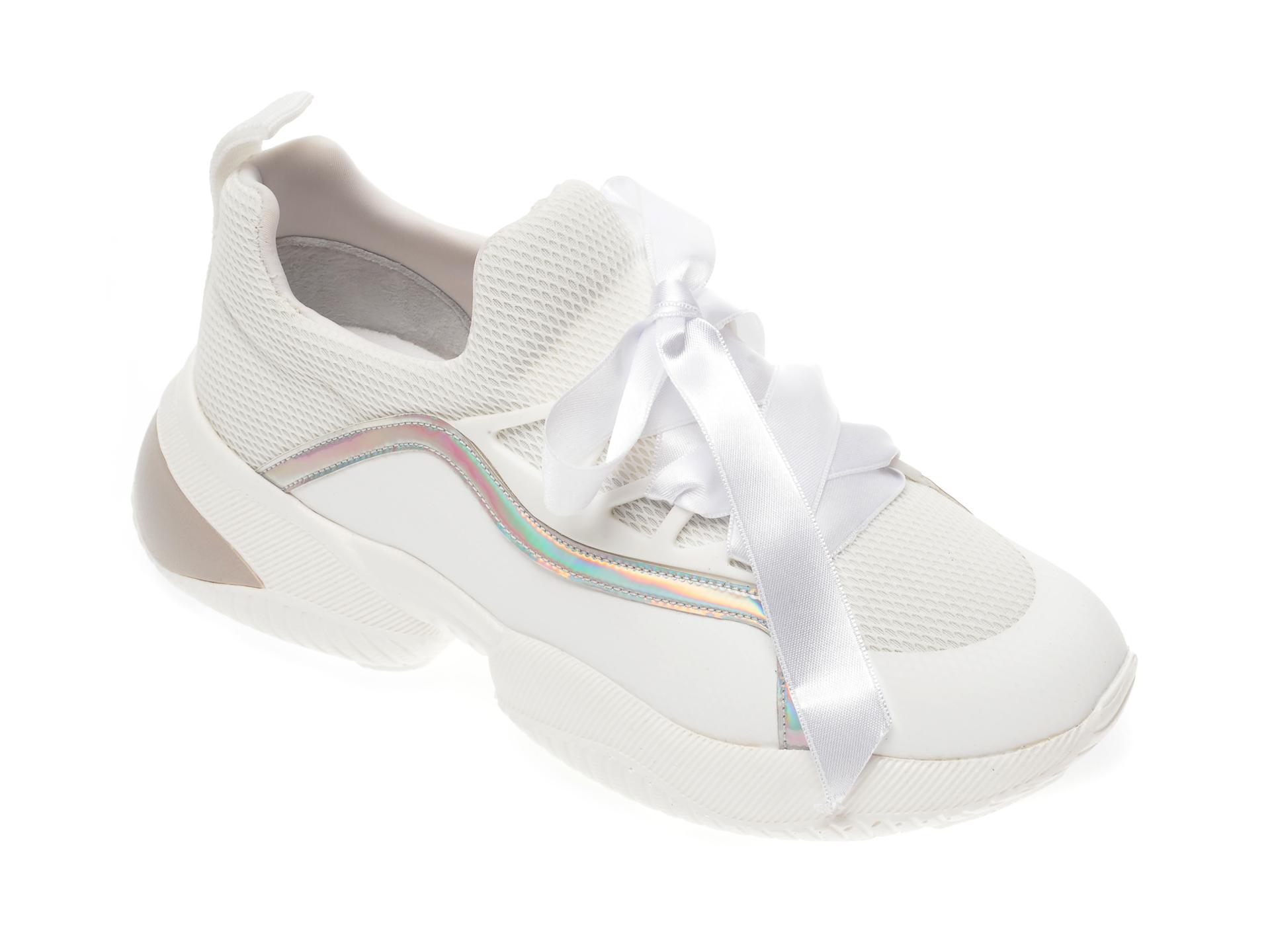 Pantofi sport GRYXX albi, MO1308, din material textil si piele ecologica