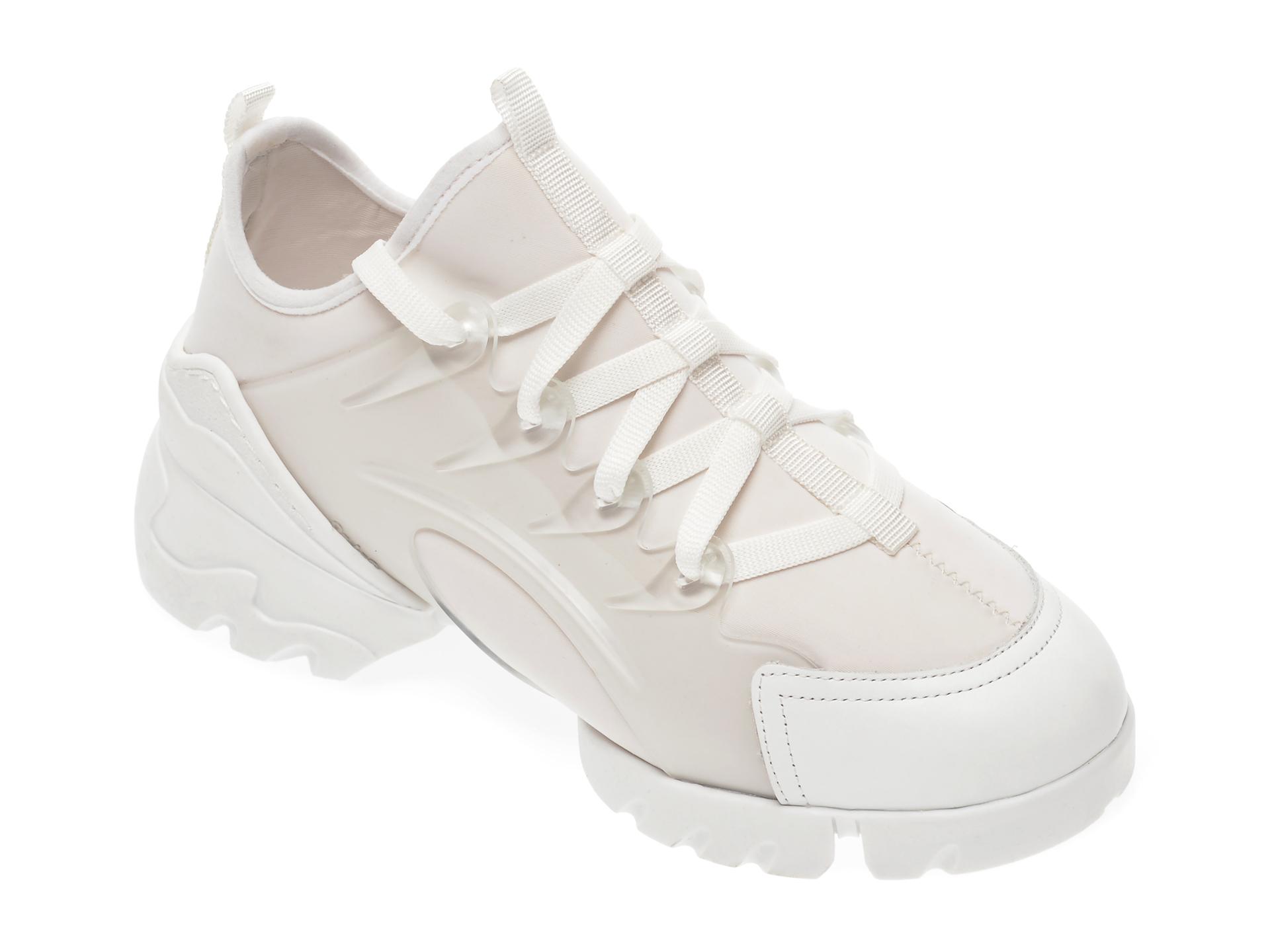 Pantofi sport GRYXX albi, MO1332, din material textil si piele ecologica