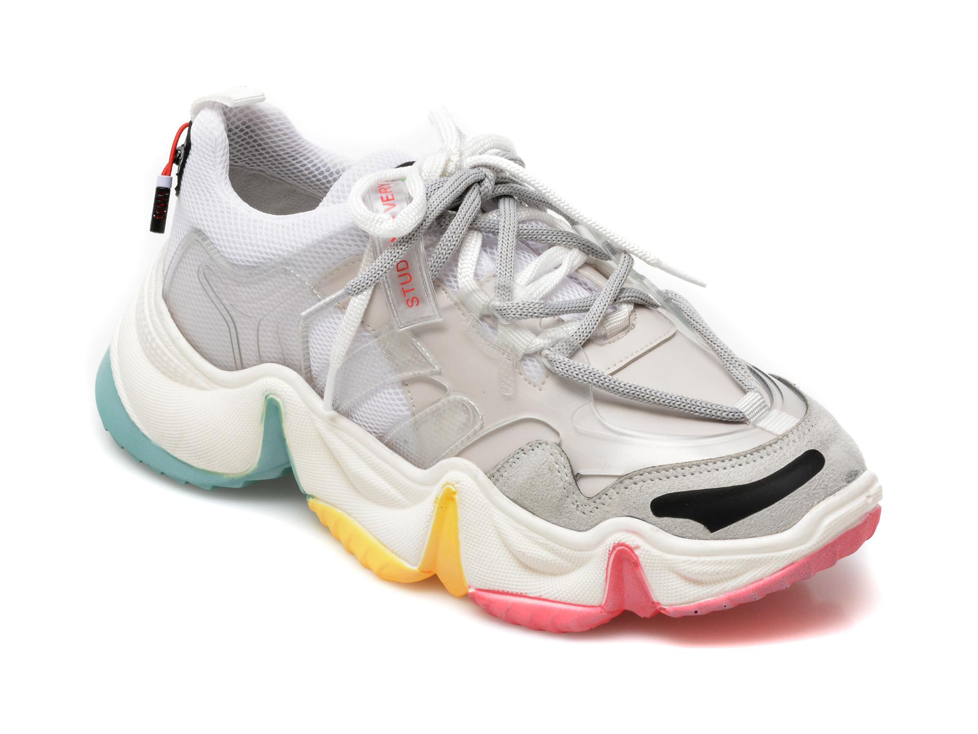 Pantofi sport GRYXX albi, MO1532, din material textil si piele ecologica imagine otter.ro 2021