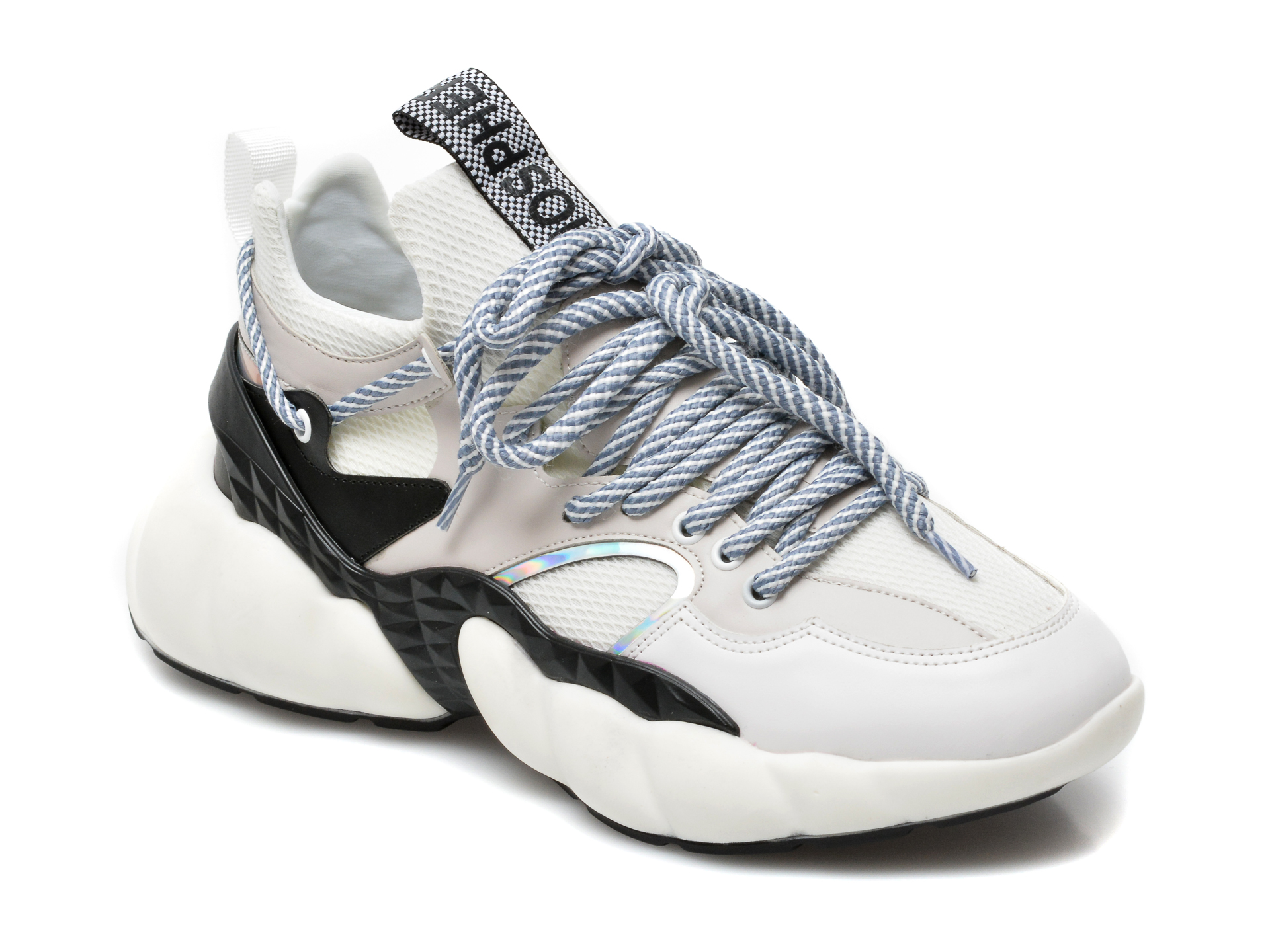 Pantofi sport GRYXX albi, MO1545, din material textil si piele ecologica imagine otter.ro 2021