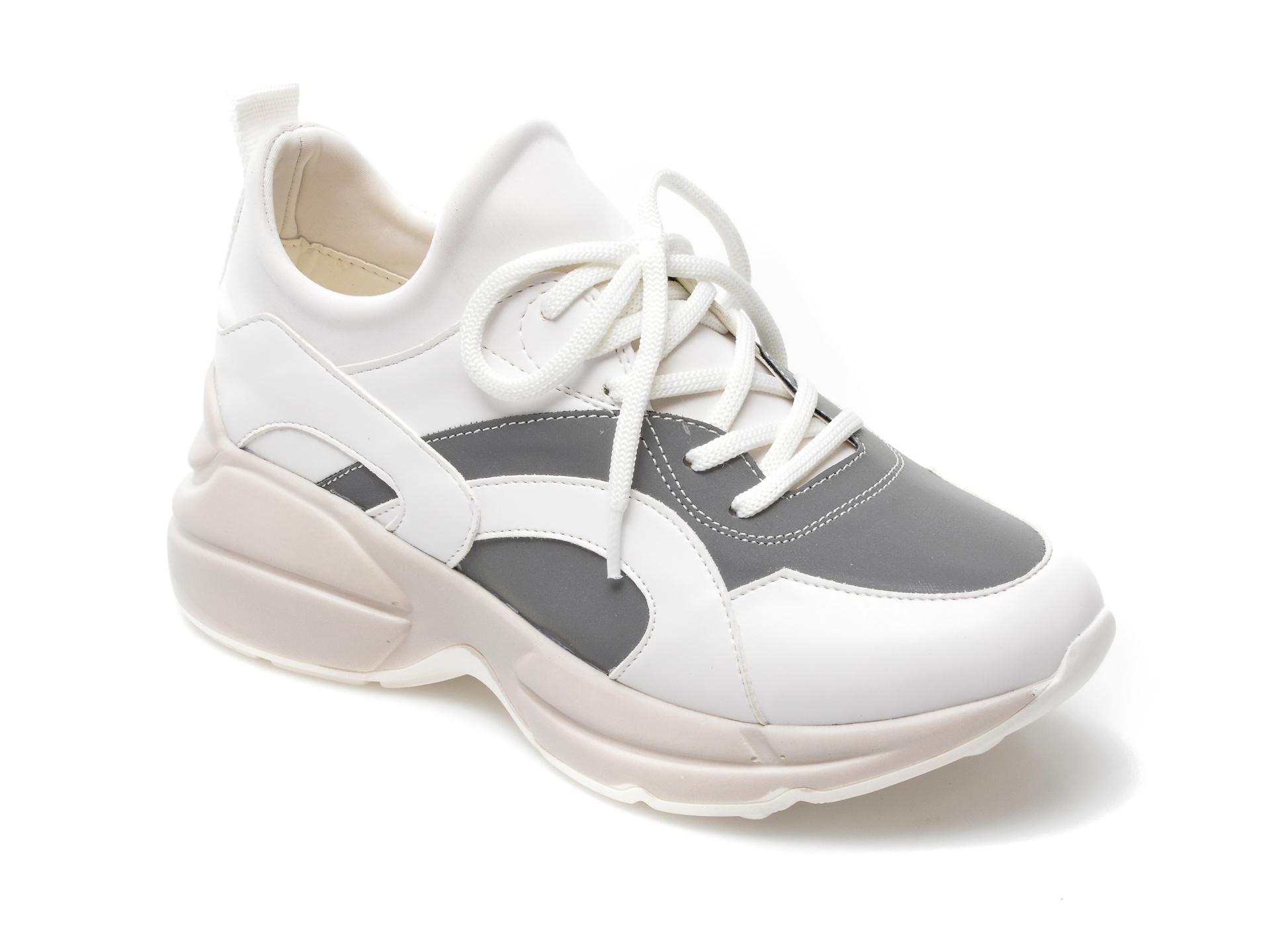 Pantofi sport GRYXX albi, MO59104, din material textil si piele ecologica imagine otter.ro