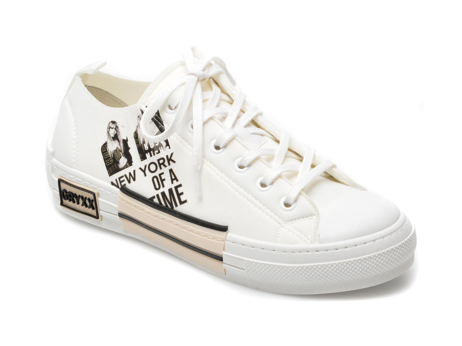 Pantofi sport GRYXX albi, T132, din material textil imagine otter.ro 2021