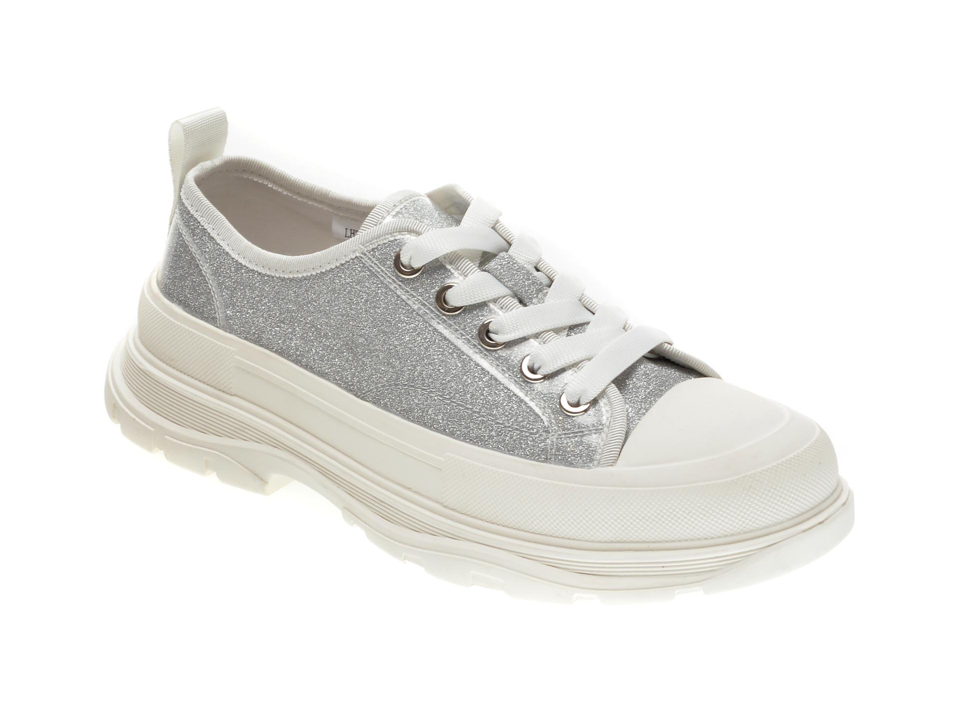 Pantofi sport GRYXX argintii, 30016, din material textil imagine