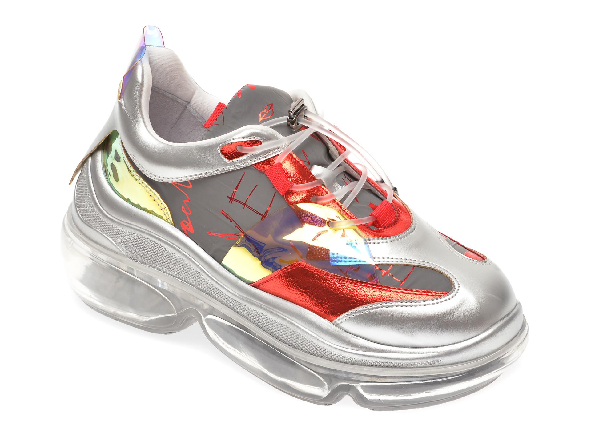 Pantofi sport GRYXX argintii, MO11930, din piele ecologica