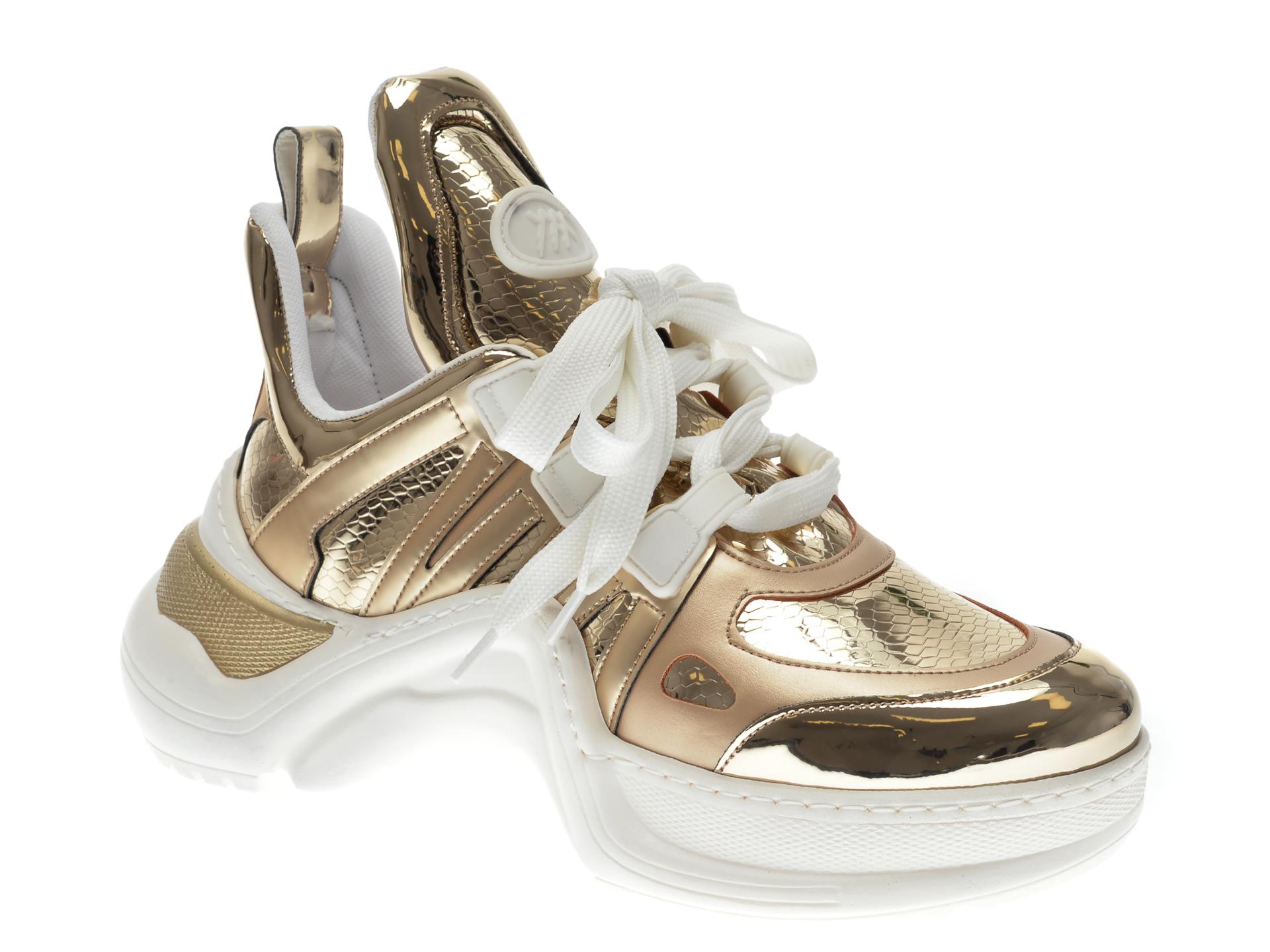 Pantofi sport GRYXX aurii, MK1043, din piele ecologica imagine