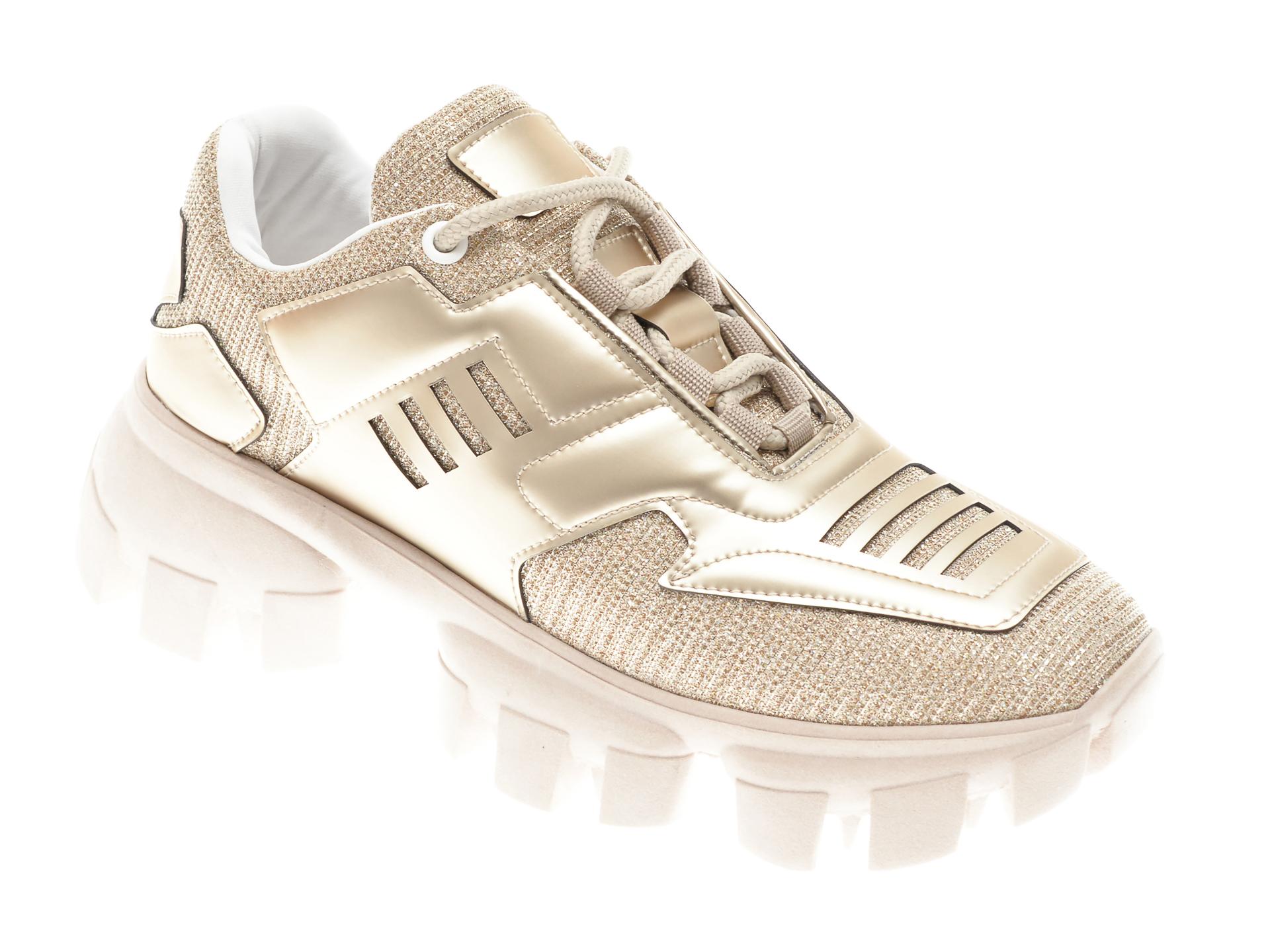 Pantofi sport GRYXX aurii, MO1252, din piele ecologica