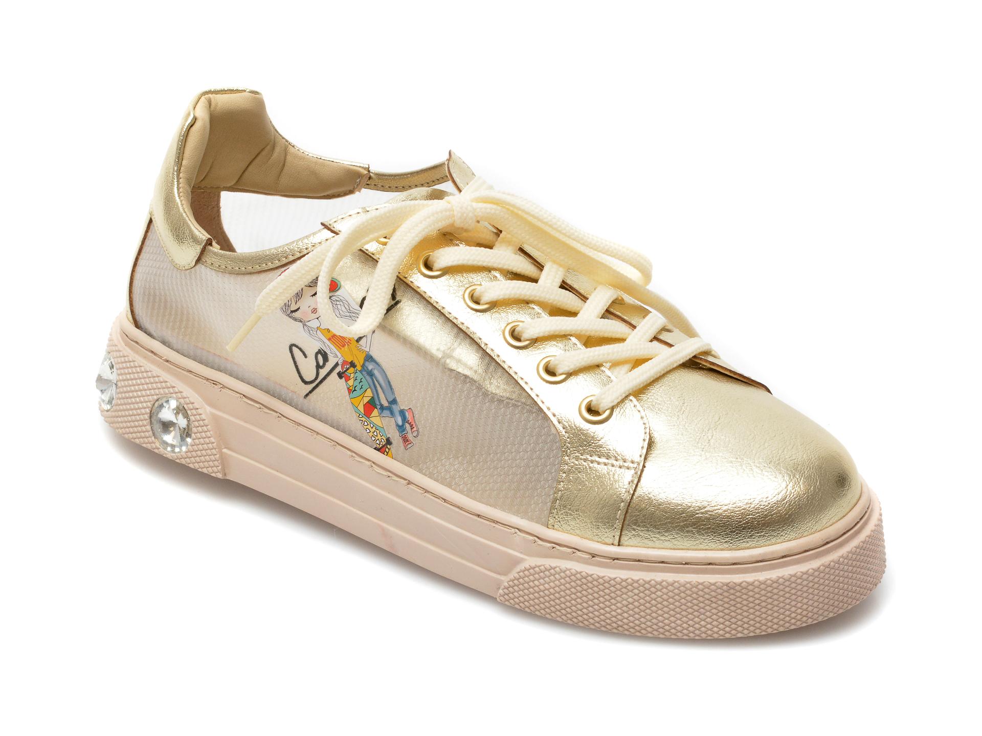 Pantofi sport GRYXX aurii, T20106, din material textil si piele ecologica imagine otter.ro 2021
