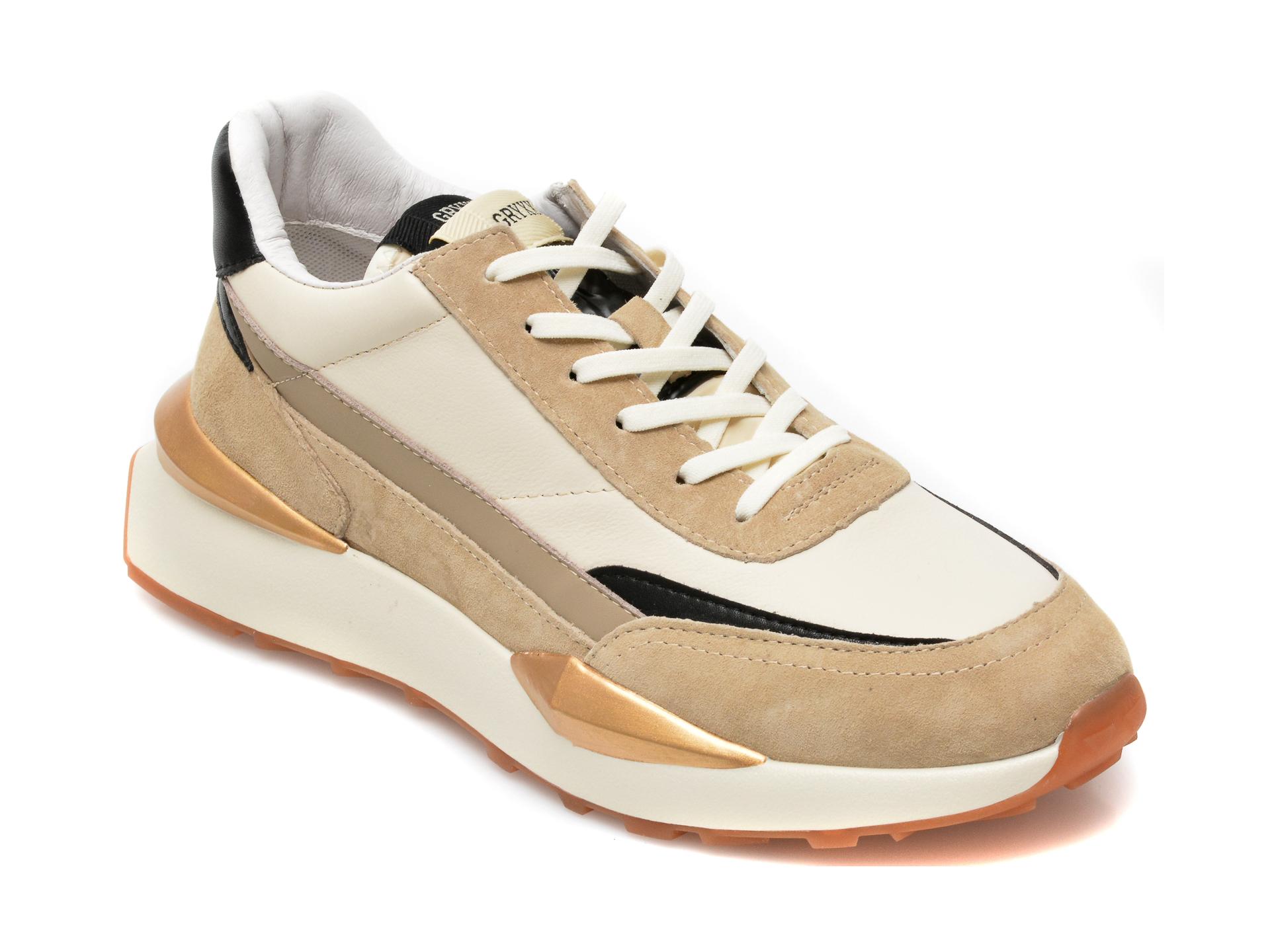 Pantofi sport GRYXX bej, 20735, din piele naturala imagine