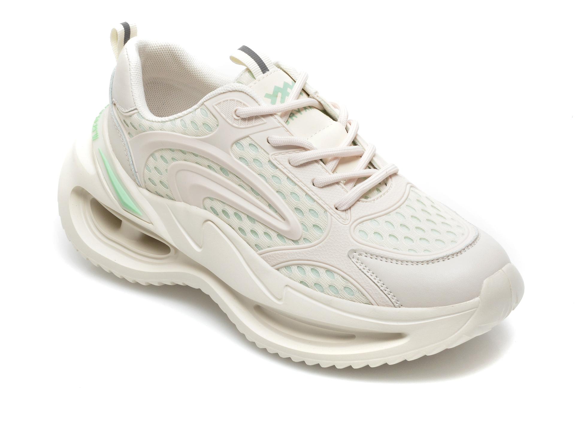 Pantofi sport GRYXX bej, A3063, din material textil si piele naturala imagine otter.ro