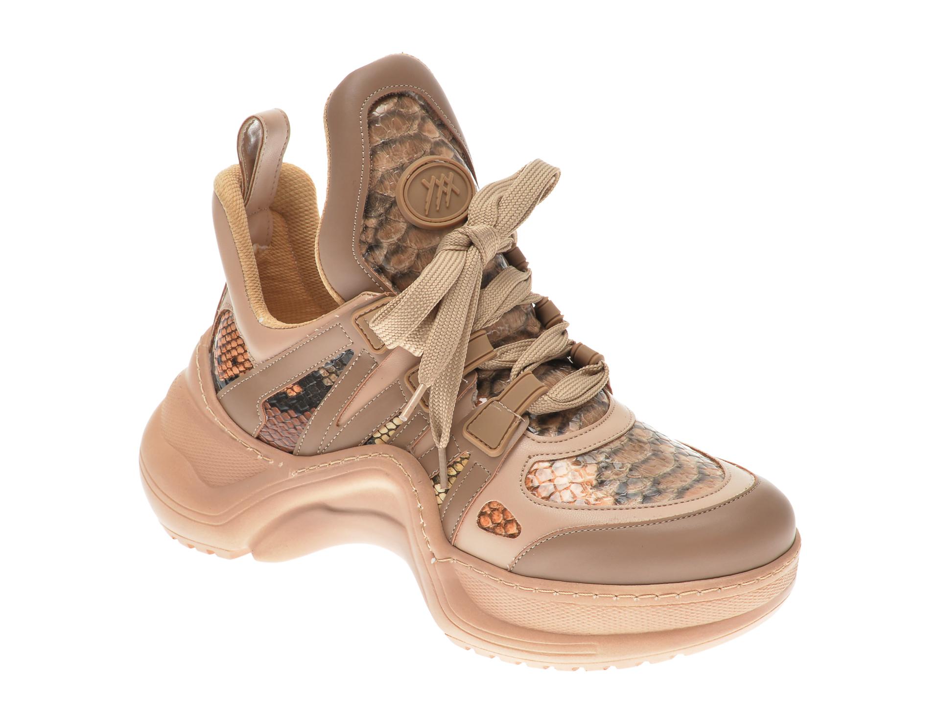 Pantofi sport GRYXX bej, MK1043, din piele ecologica imagine