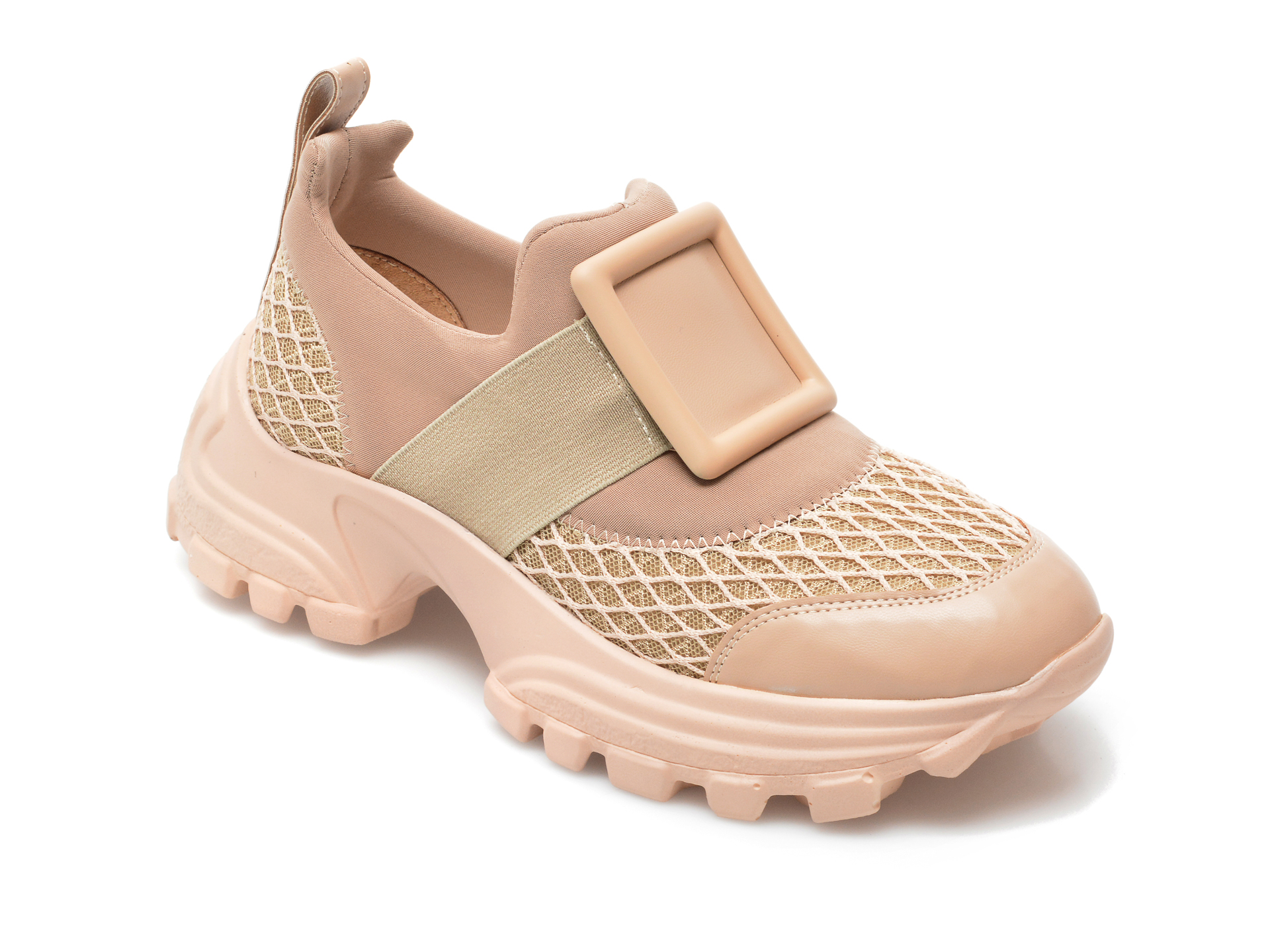 Pantofi Sport Gryxx Bej, Mo12410, Din Material Textil Si Piele Ecologica