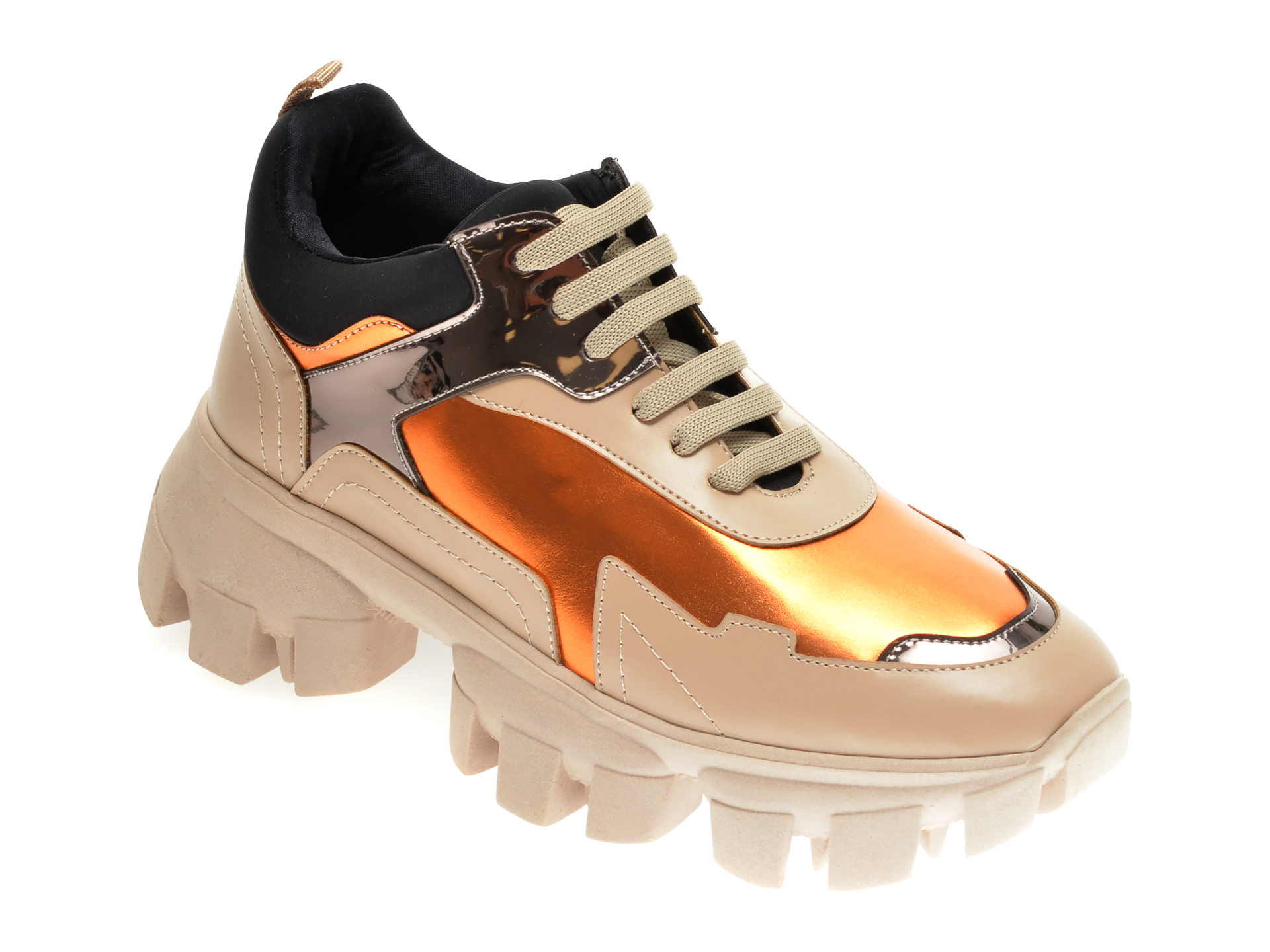 Pantofi sport GRYXX bej, MO1256, din piele ecologica