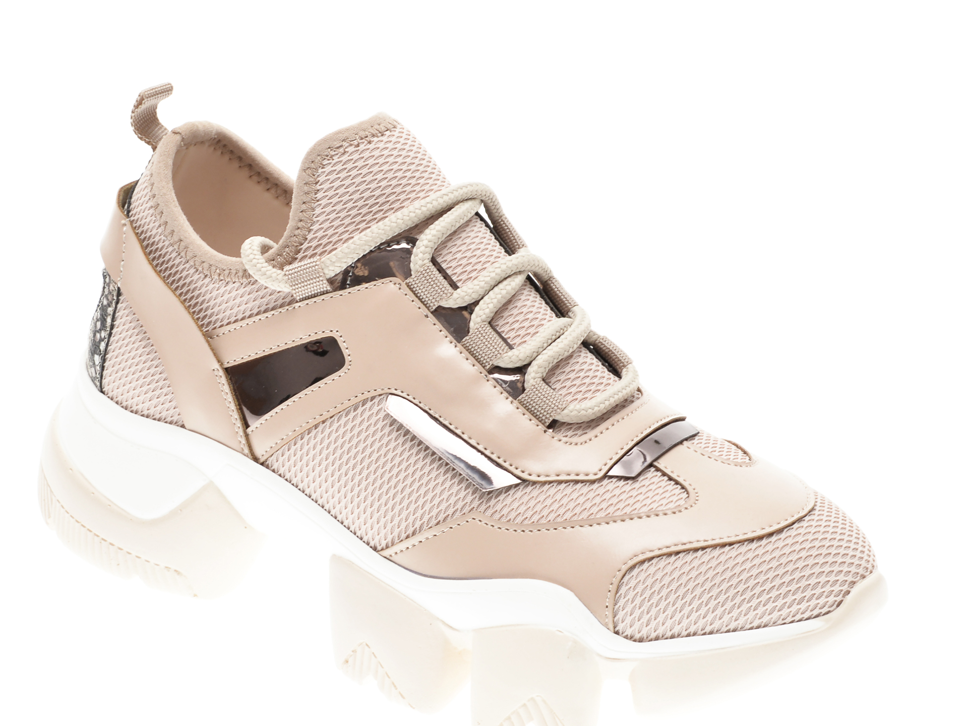 Pantofi sport GRYXX bej, MO9953, din piele ecologica imagine