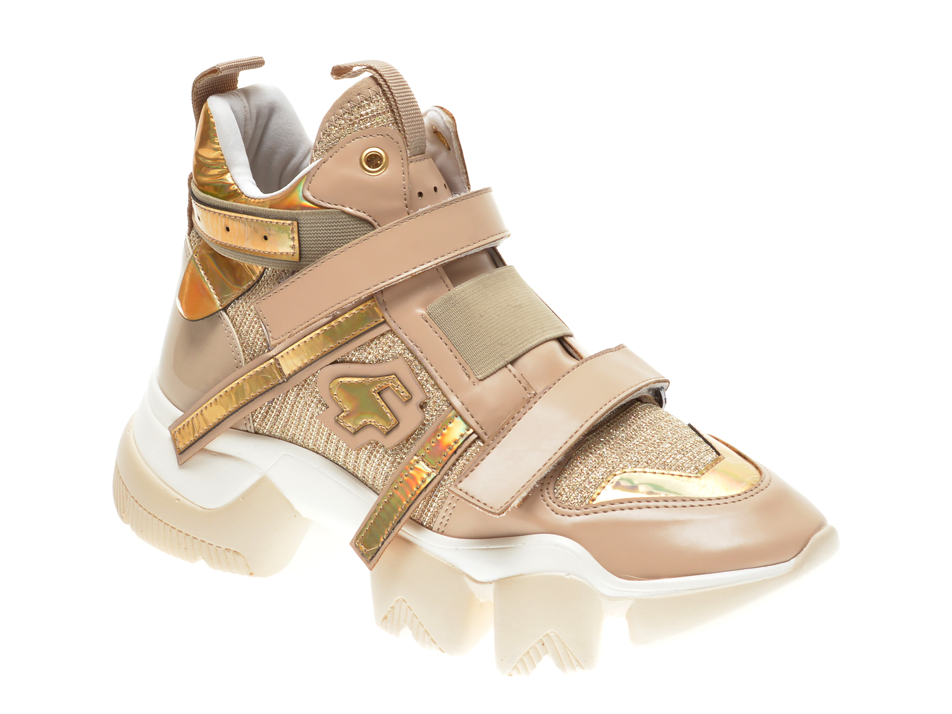 Pantofi sport GRYXX bej, MO99B51, din material textil si piele ecologica New