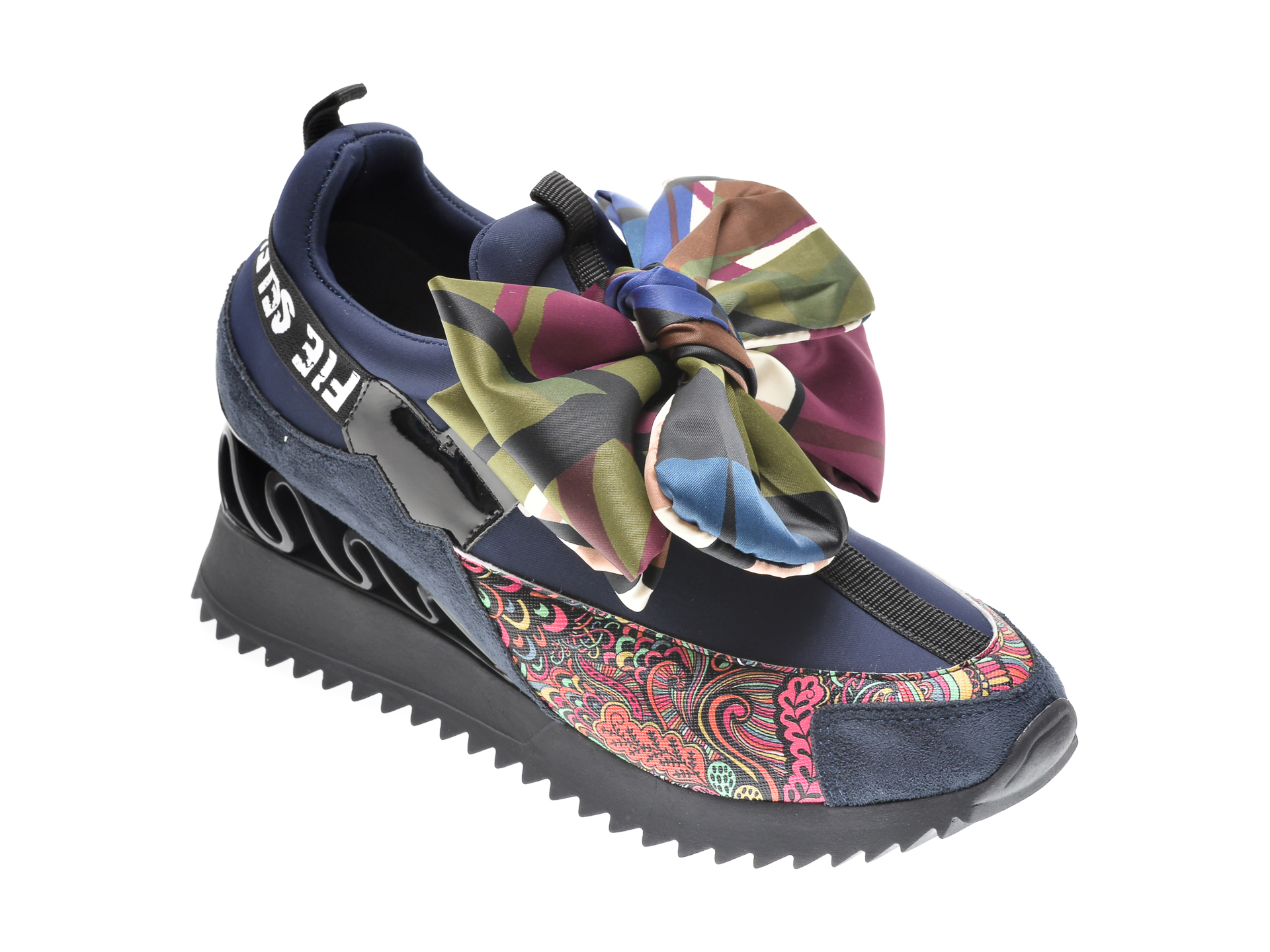 Pantofi Sport Gryxx Bleumarin, Mk8855, Din Material Textil Si Piele Ecologica